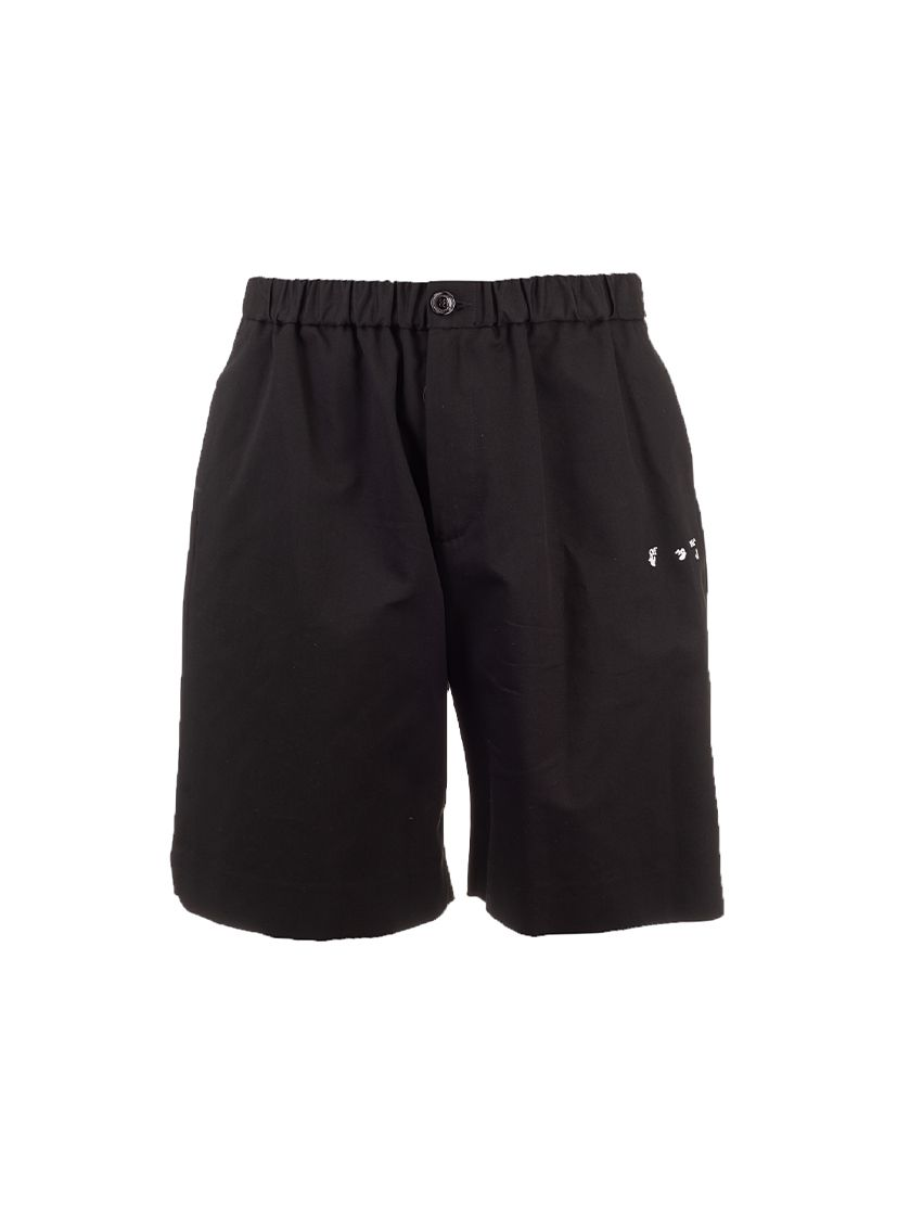 Off-White Shorts OFF-WHITE MEN'S OMCB049S21FAB011001 BLACK OTHER MATERIALS SHORTS