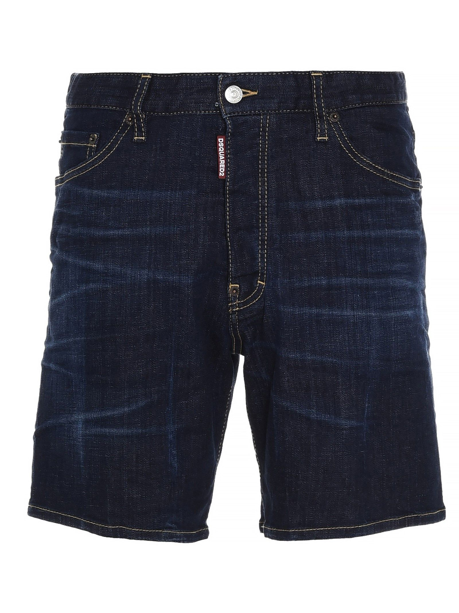 Dsquared2 Cottons DSQUARED2 MEN'S S71MU0634S30342470 BLUE OTHER MATERIALS SHORTS