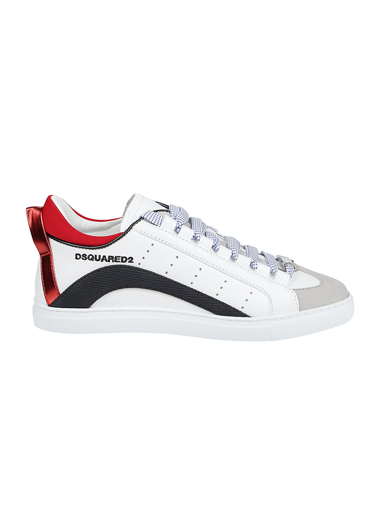 Dsquared2 Leathers DSQUARED2 MEN'S SNM009001503995M536 WHITE OTHER MATERIALS SNEAKERS