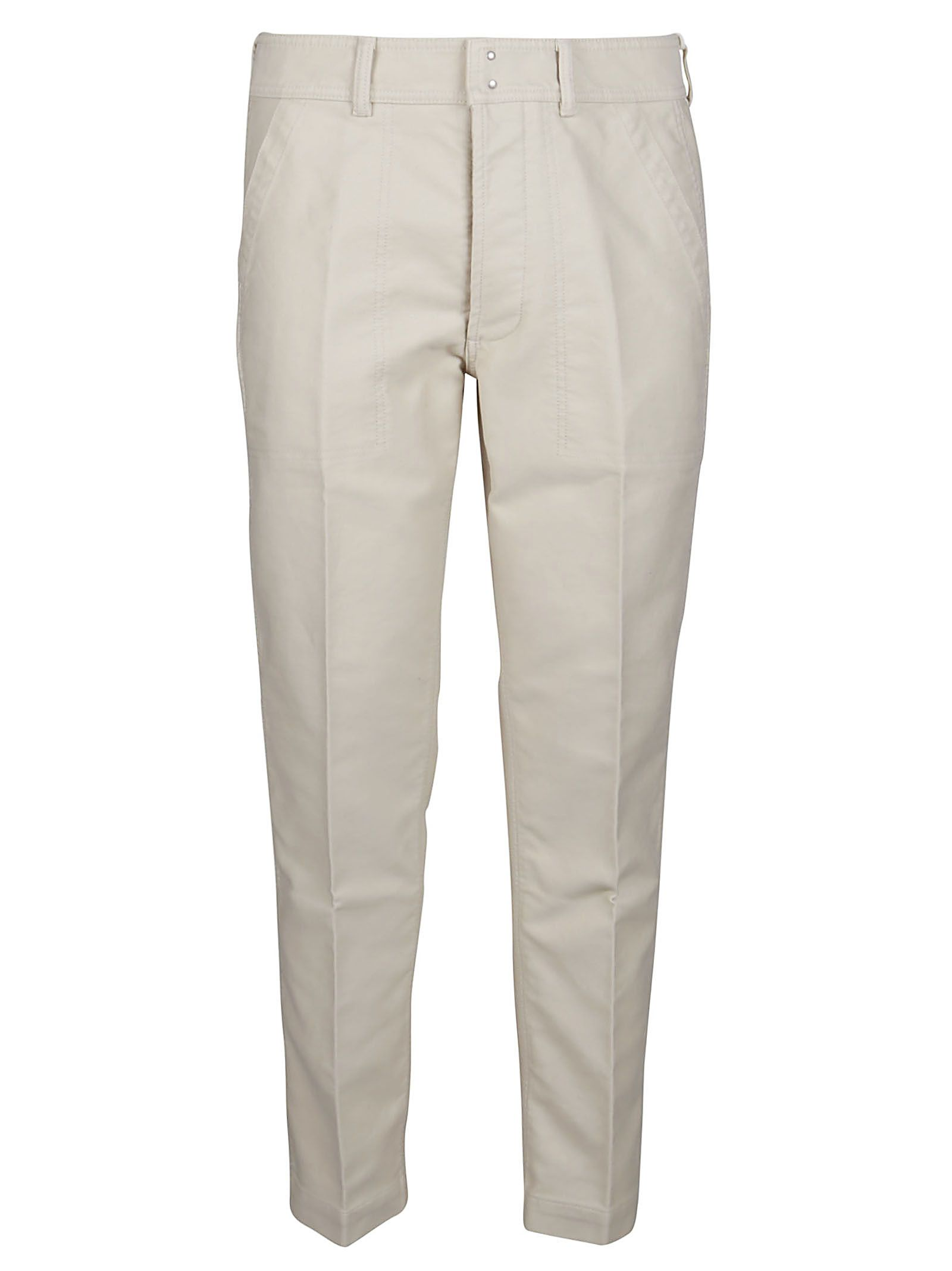 Tom Ford Cottons TOM FORD MEN'S TFP251BW128M21 GREY COTTON PANTS