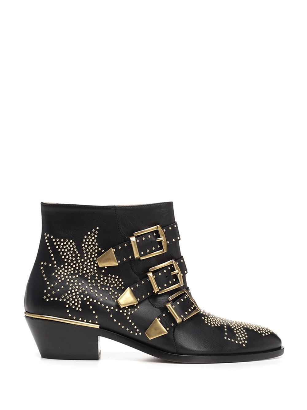 Chloé Ankle highs CHLO WOMEN'S CHC16A134750ZY BLACK OTHER MATERIALS ANKLE BOOTS