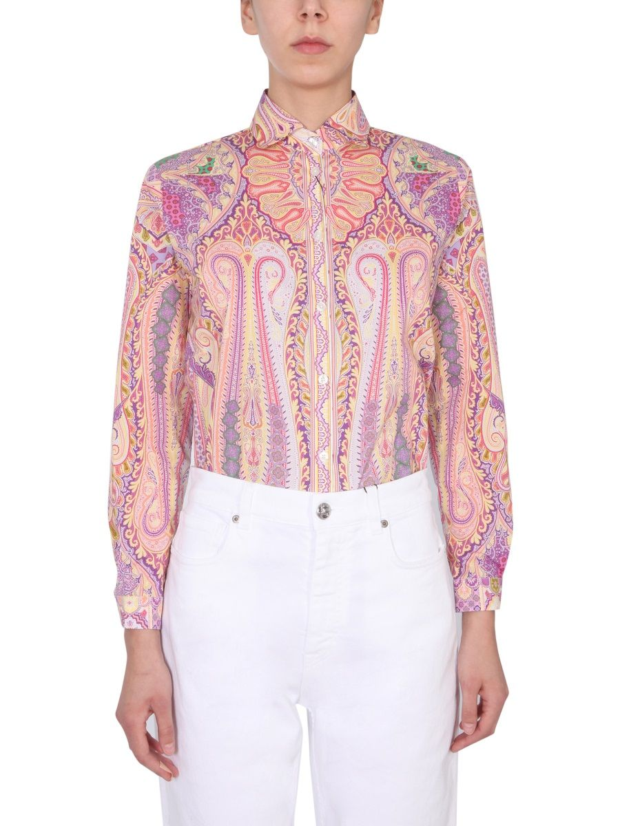 Etro Cottons ETRO WOMEN'S 1430043928000 PINK OTHER MATERIALS SHIRT