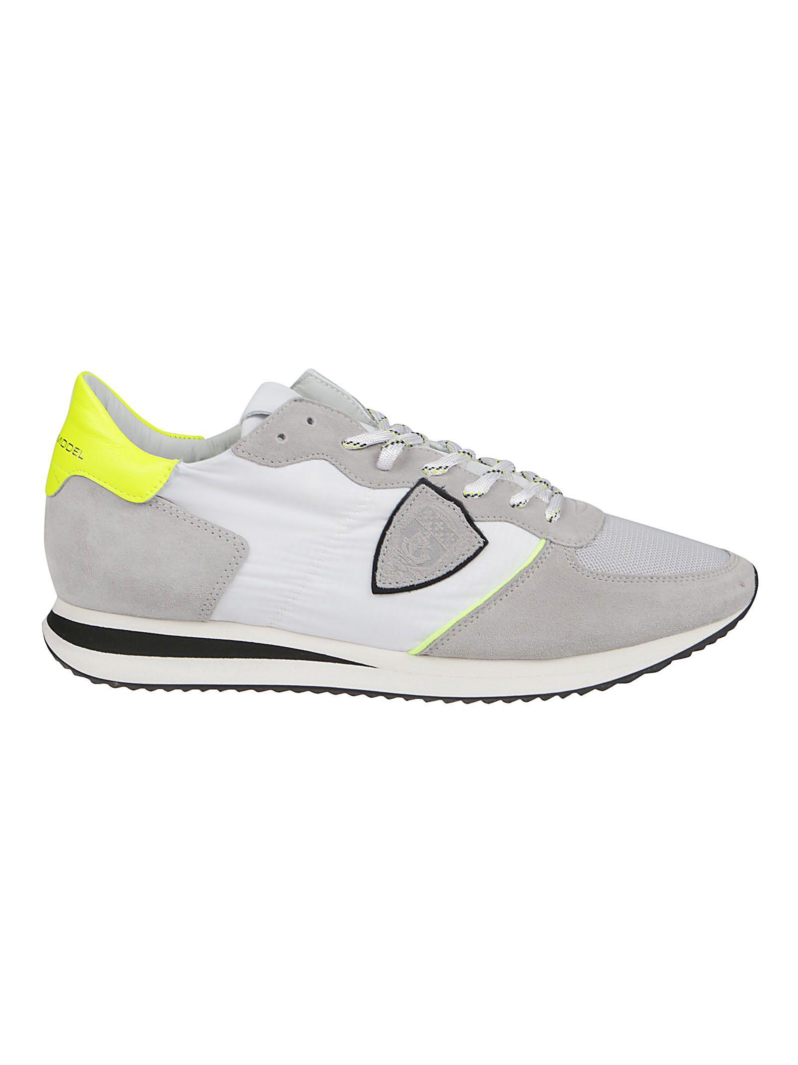 Philippe Model Leathers PHILIPPE MODEL MEN'S TZLUWP11 GREY OTHER MATERIALS SNEAKERS