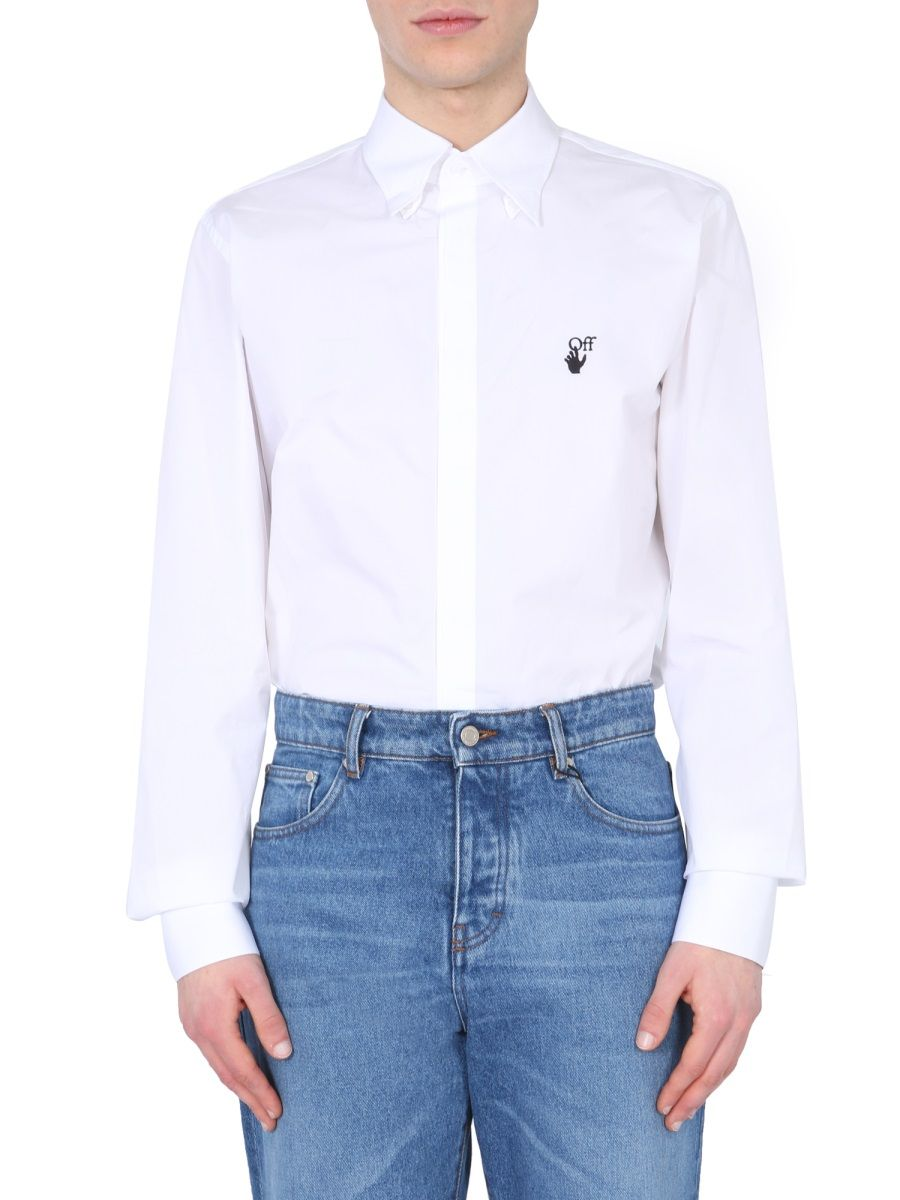 Off-White OFF-WHITE MEN'S OMGA152S21FAB0010110 WHITE OTHER MATERIALS SHIRT