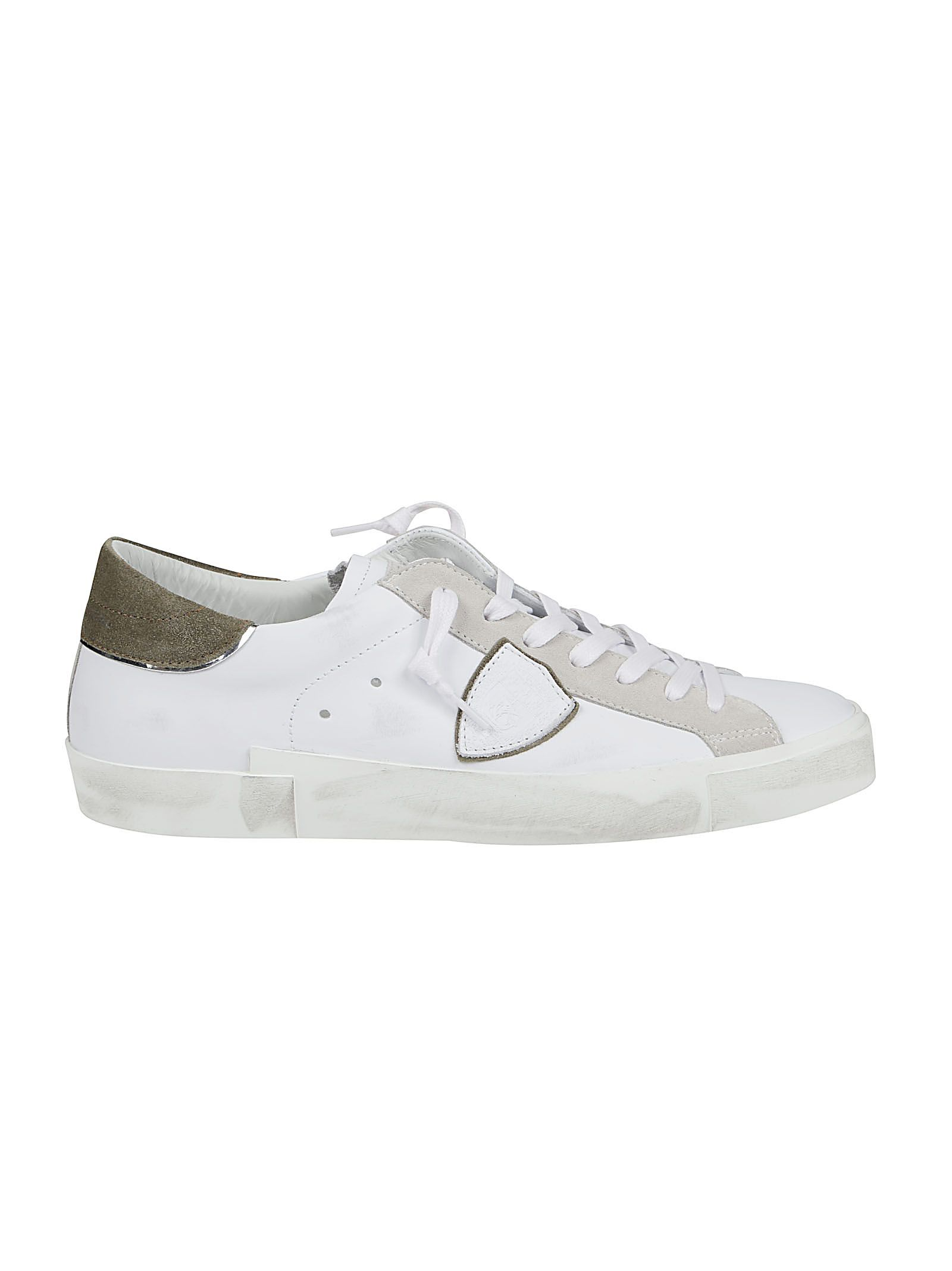 Philippe Model Leathers PHILIPPE MODEL MEN'S PRLUVX20 WHITE OTHER MATERIALS SNEAKERS
