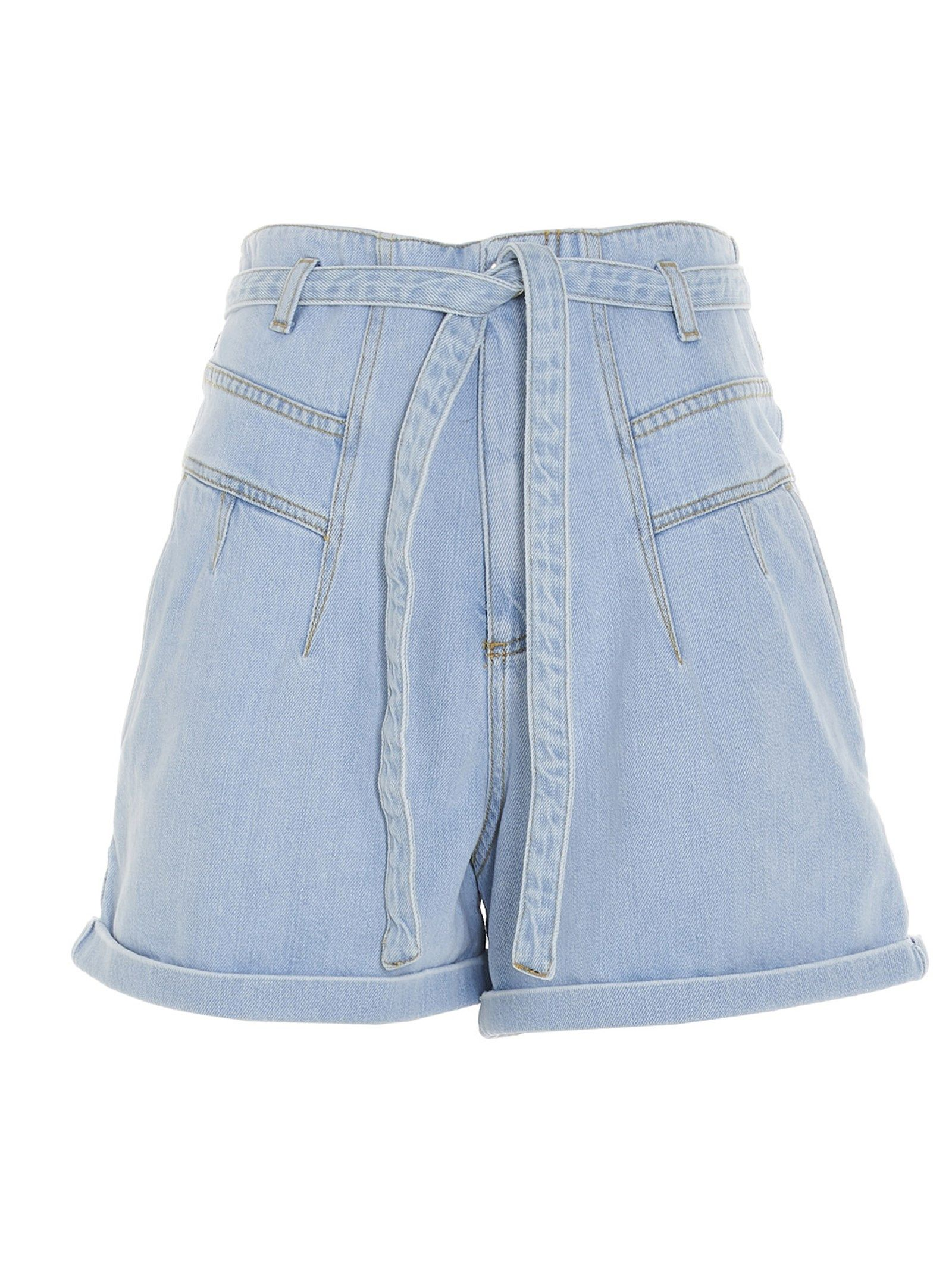 Pinko Cottons PINKO WOMEN'S 1J10M0Y649F14 LIGHT BLUE OTHER MATERIALS SHORTS