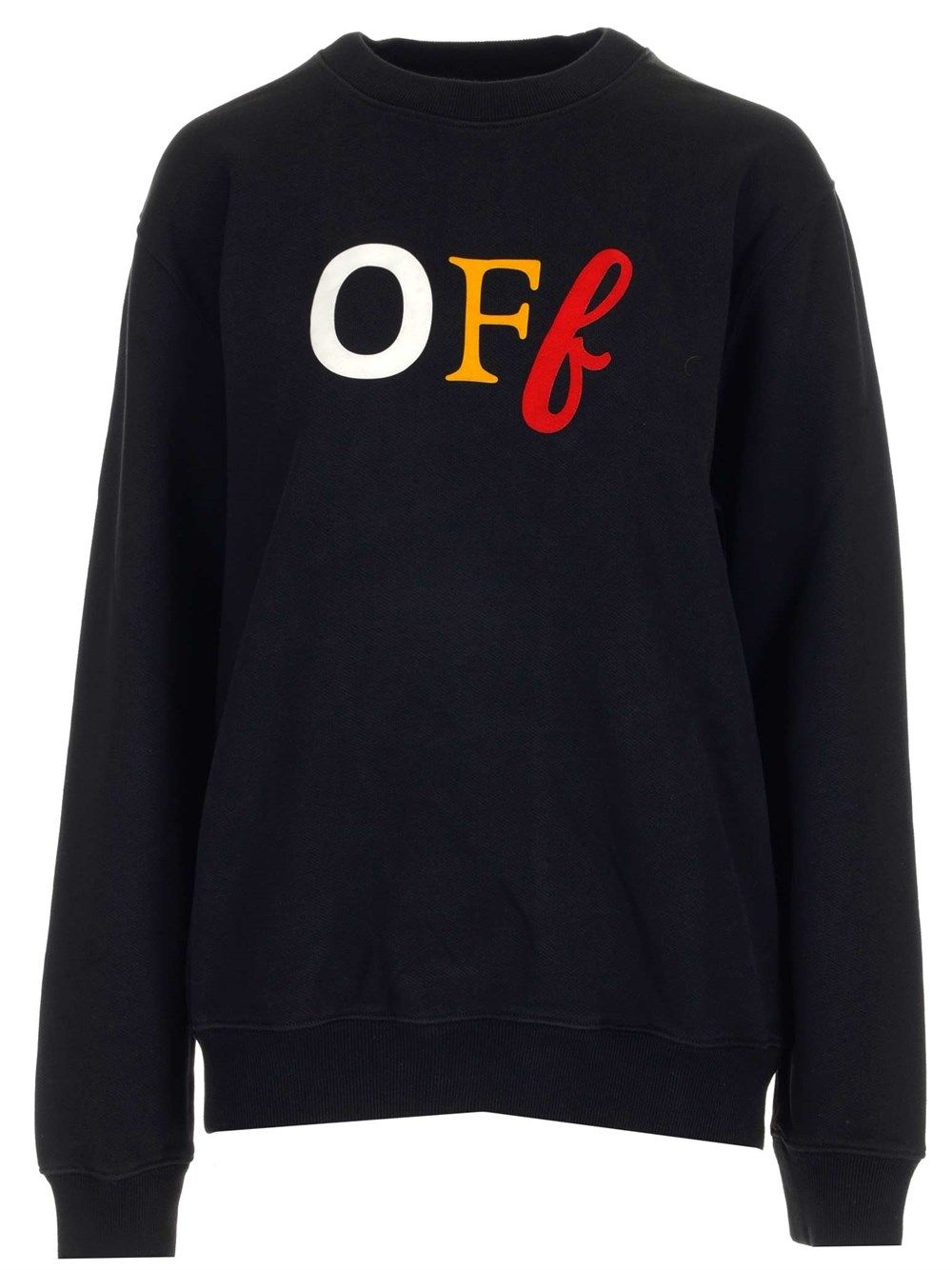 Off-White Cottons OFF-WHITE WOMEN'S OWBA055S21JER0031084 MULTICOLOR OTHER MATERIALS SWEATSHIRT