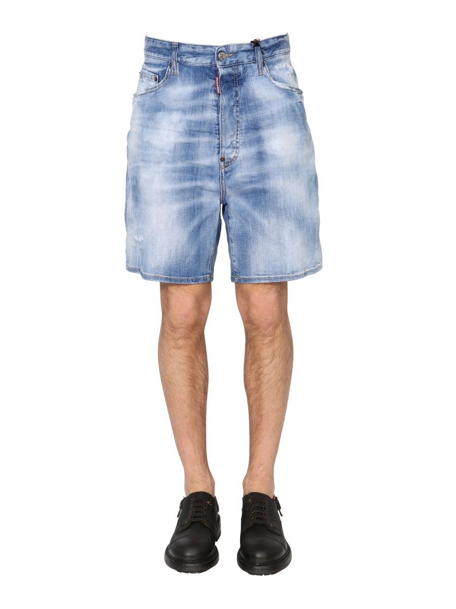 Dsquared2 Shorts DSQUARED2 MEN'S S71MU0614S30342470 BLUE OTHER MATERIALS SHORTS