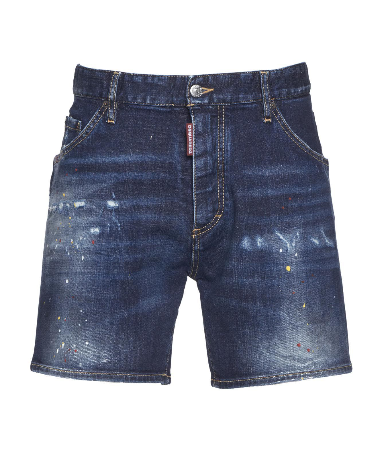 Dsquared2 Shorts DSQUARED2 MEN'S S74MU0649S3066411470 BLUE OTHER MATERIALS SHORTS