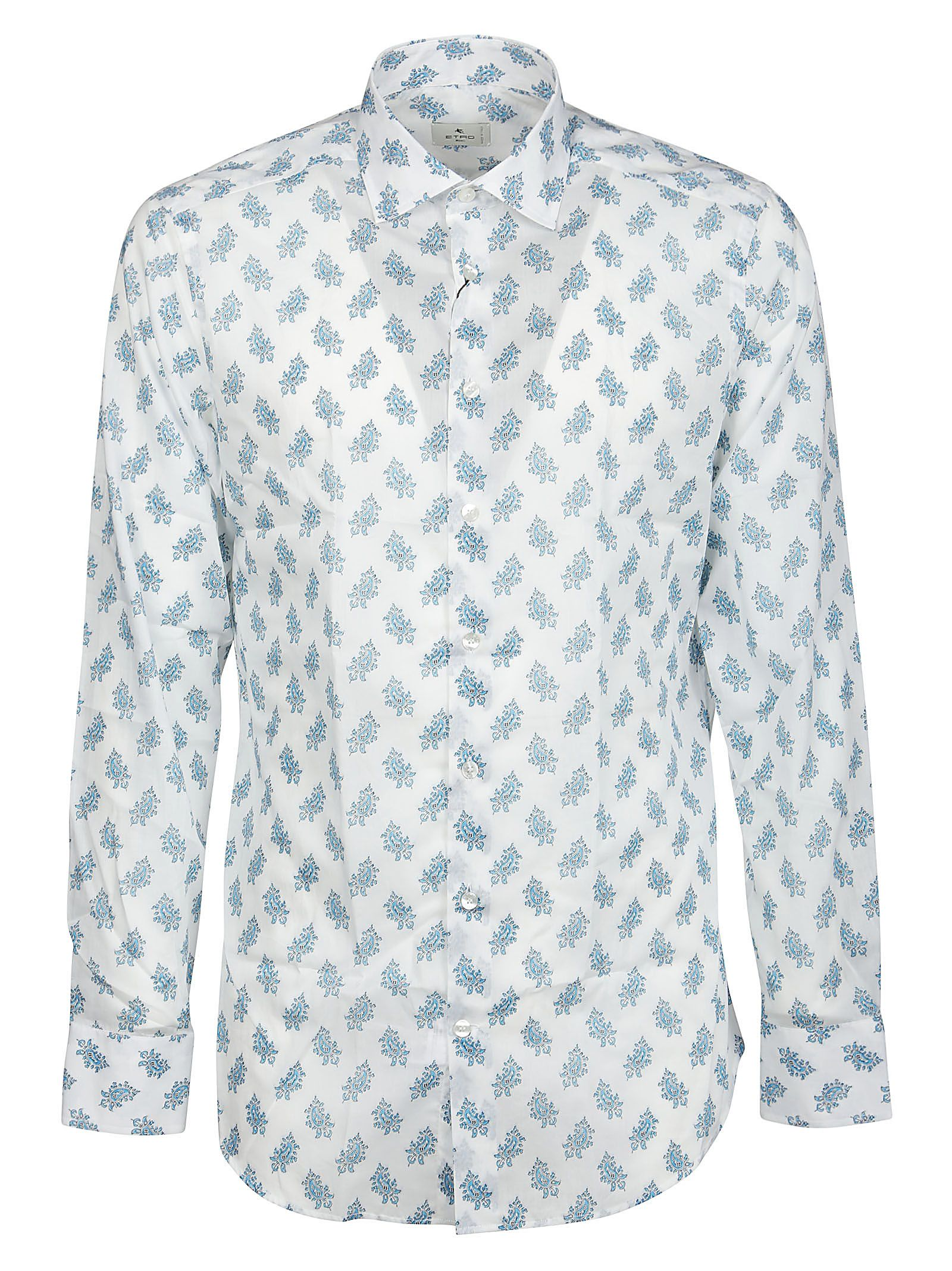 Etro Cottons ETRO MEN'S 1145147630990 WHITE OTHER MATERIALS SHIRT