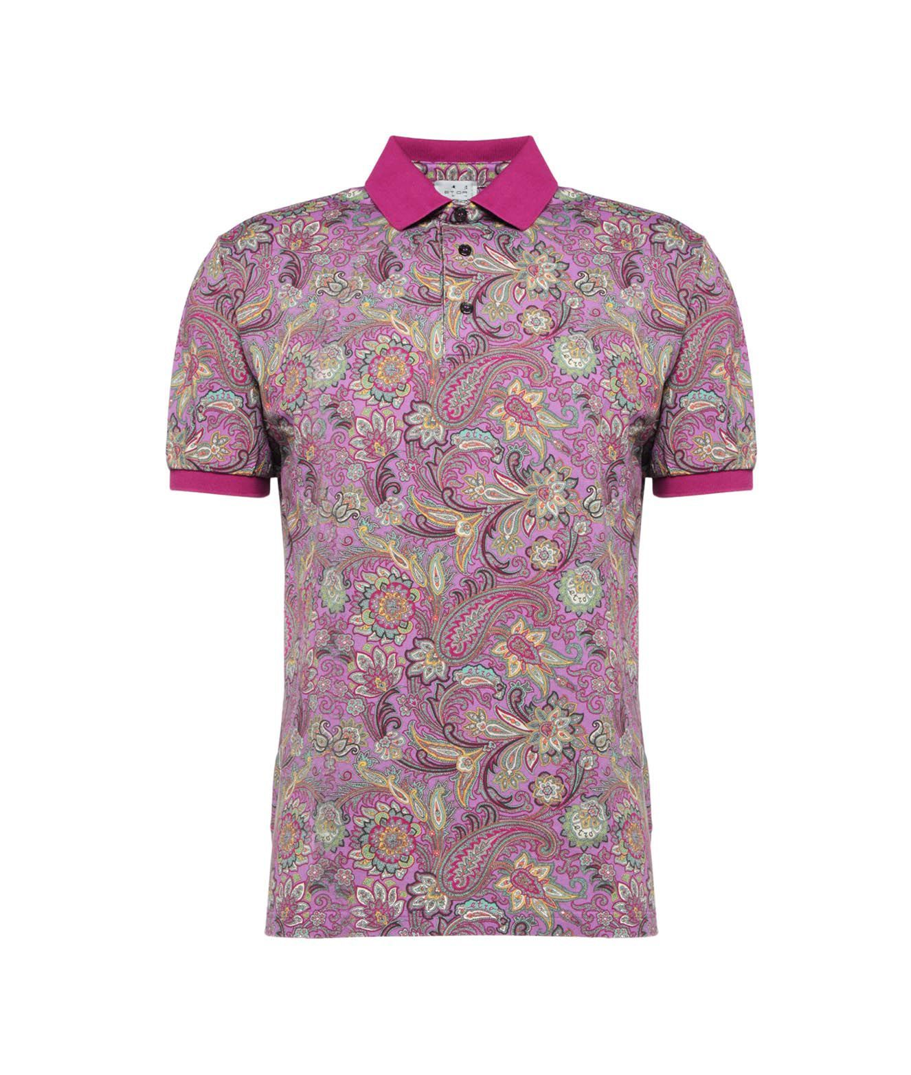 Etro Shirts ETRO MEN'S 1Y800408311650 PURPLE OTHER MATERIALS POLO SHIRT
