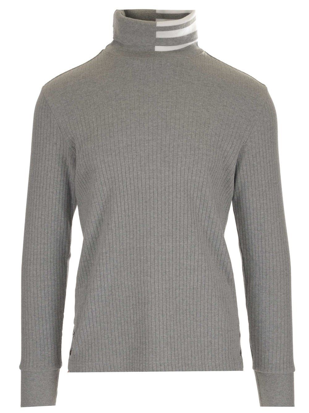 Thom Browne Cottons THOM BROWNE MEN'S MJS135A07063055 GREY OTHER MATERIALS SWEATER