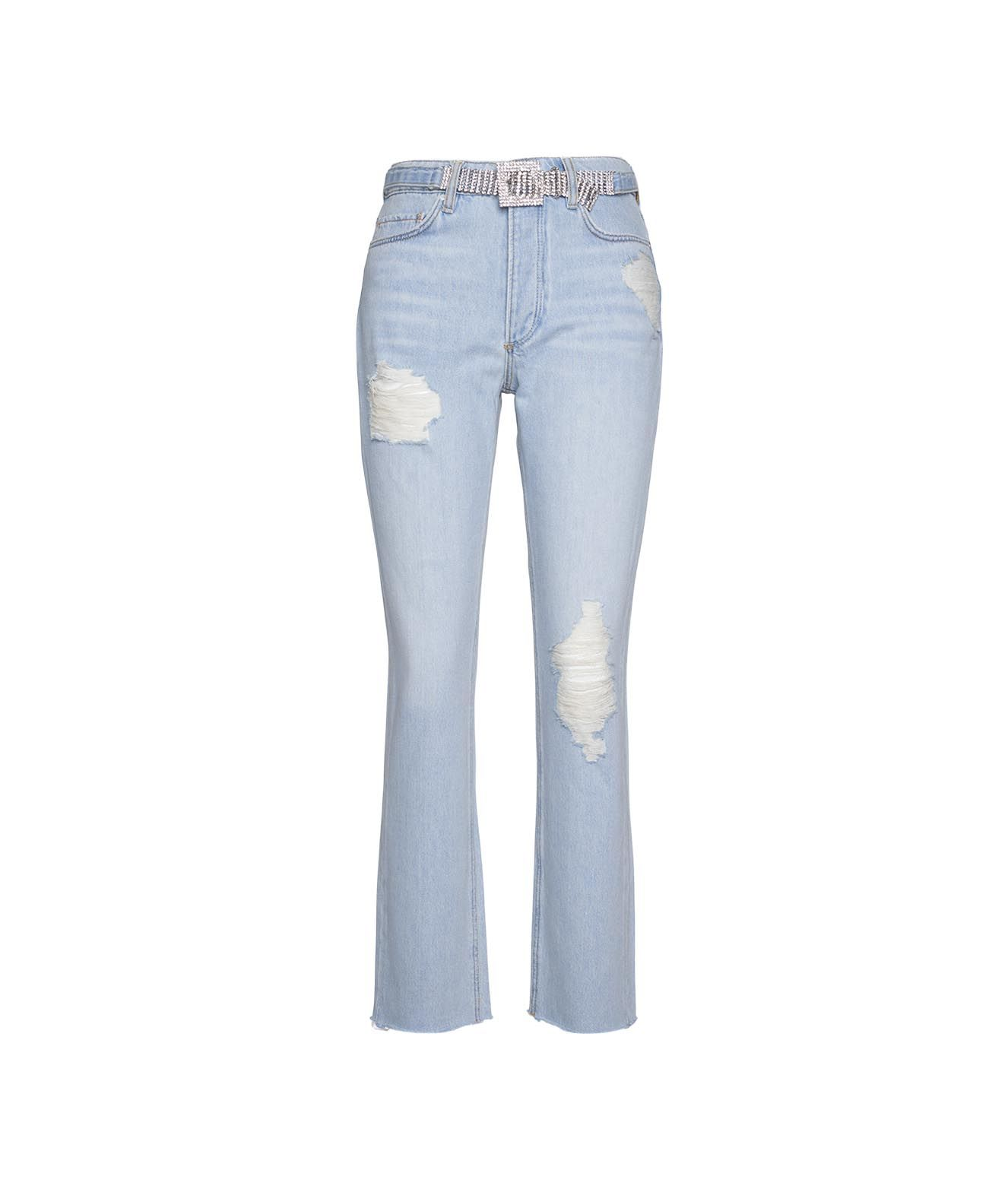 Guess Jeans GUESS WOMEN'S W1RA16D3Y0I11SHNJ BLUE OTHER MATERIALS JEANS