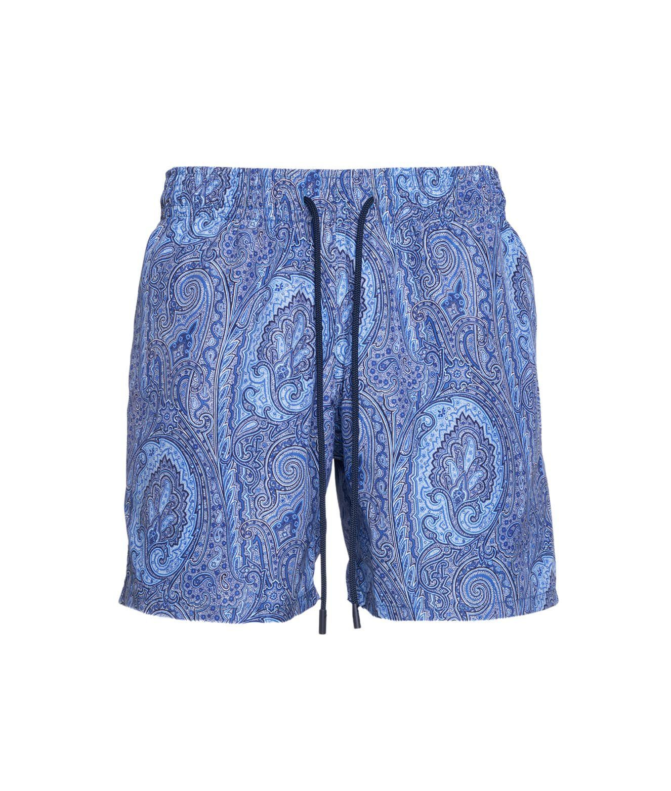 Etro Clothing ETRO MEN'S 1B350122011250 BLUE OTHER MATERIALS TRUNKS