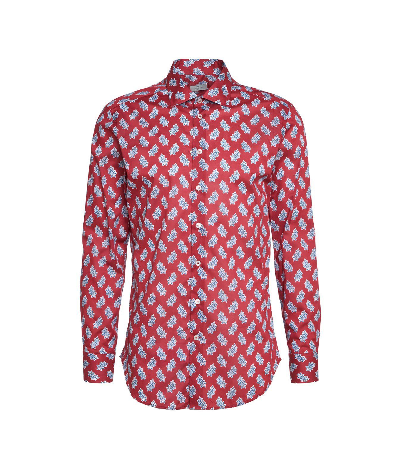 Etro Shirts ETRO MEN'S 11451476311600 RED OTHER MATERIALS SHIRT
