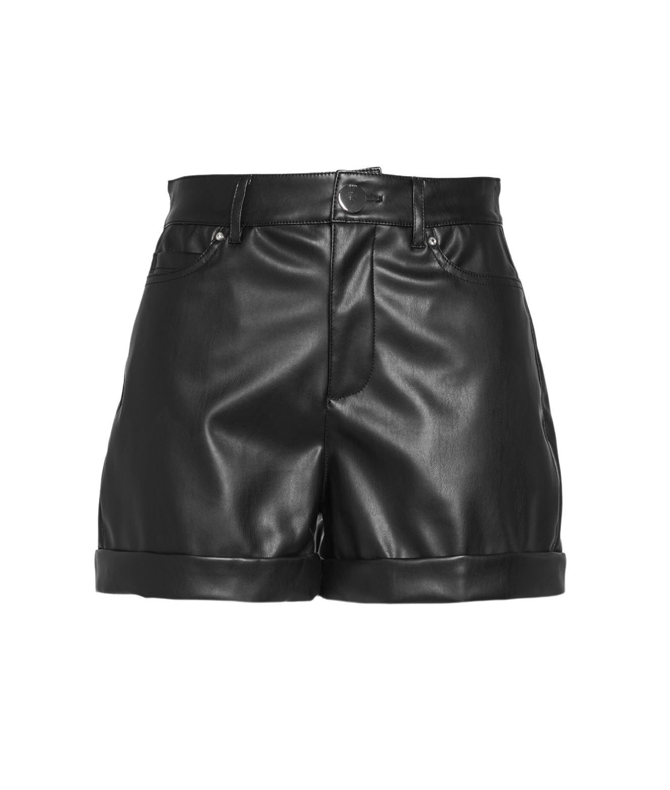 Guess Shorts GUESS WOMEN'S W1RD0HWAOO011JBLK BLACK OTHER MATERIALS SHORTS
