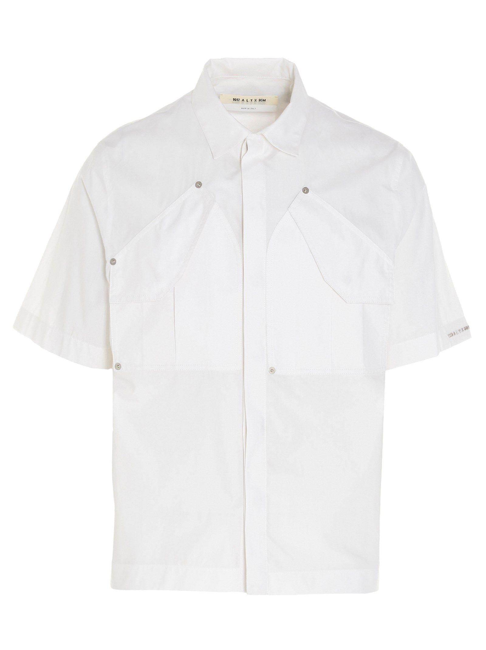 Alyx Shirts ALYX MEN'S AAUSH0102FA02WTH0001 WHITE OTHER MATERIALS SHIRT