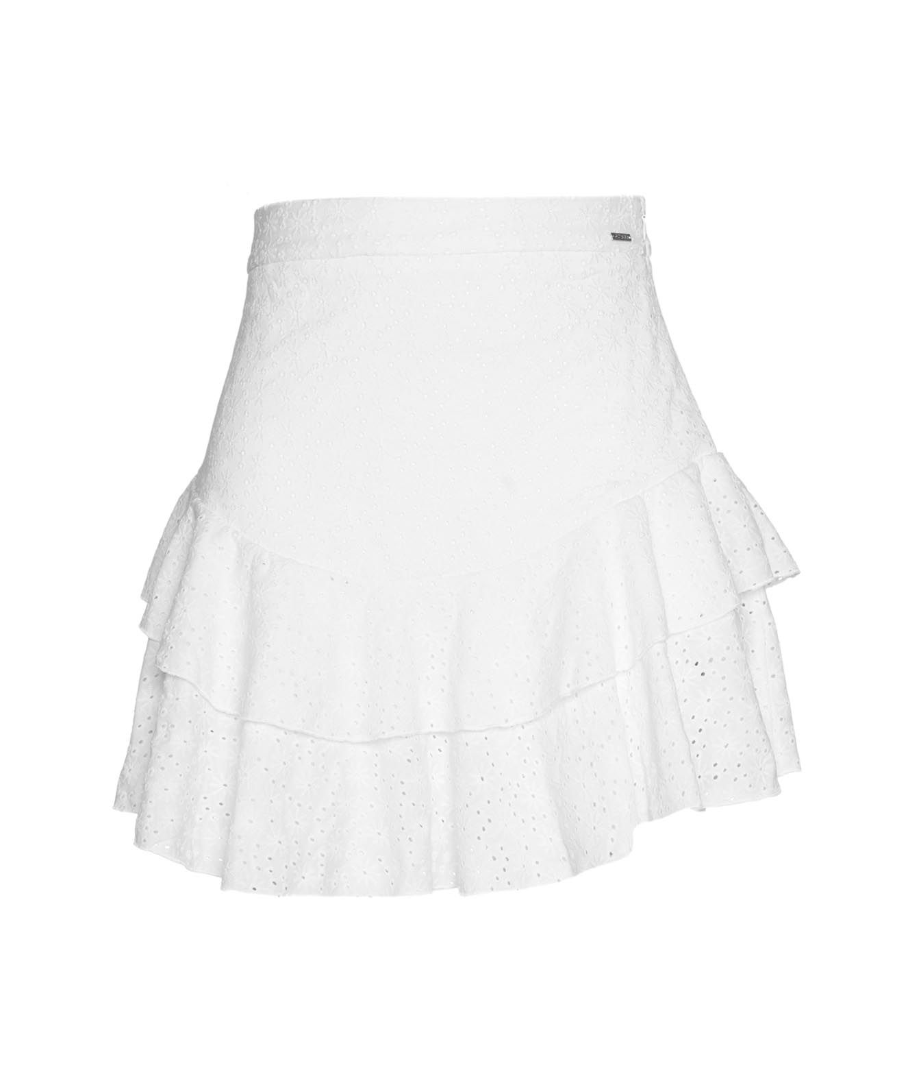 Guess Skirts GUESS WOMEN'S W1GD0FKALQ011TWHT WHITE OTHER MATERIALS SKIRT