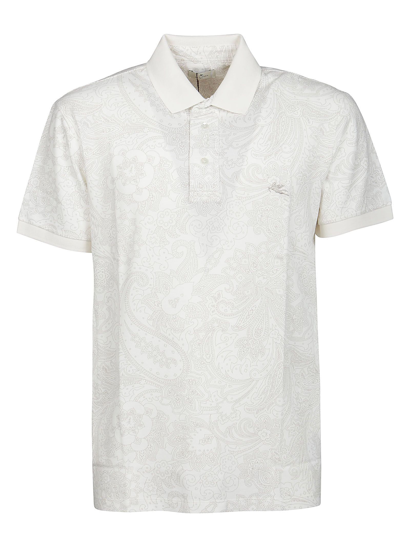 Etro Tops ETRO MEN'S 1Y80099810991 WHITE OTHER MATERIALS POLO SHIRT