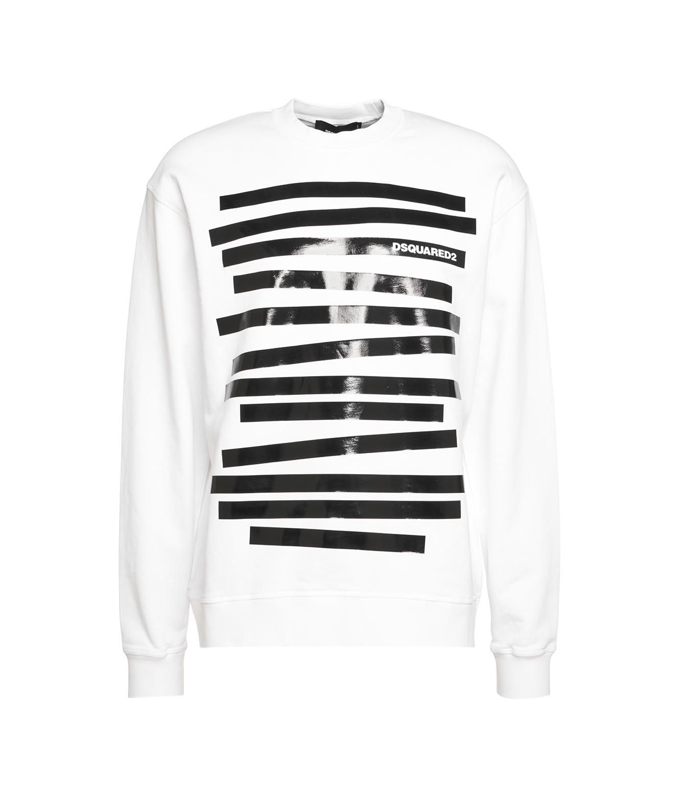 Dsquared2 Cottons DSQUARED2 MEN'S S71GU0436S2546211100 WHITE OTHER MATERIALS SWEATSHIRT
