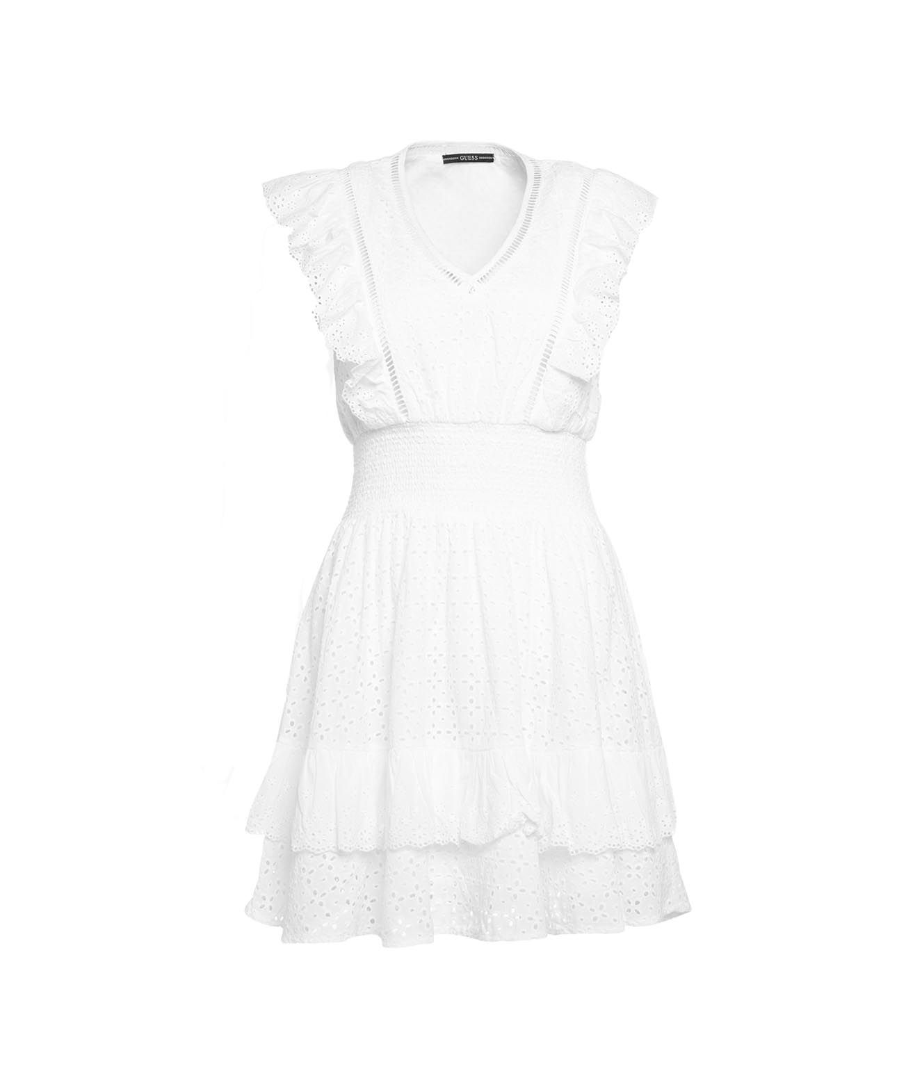 Guess Dresses GUESS WOMEN'S W1GK0HWDVE111TWHT WHITE OTHER MATERIALS DRESS