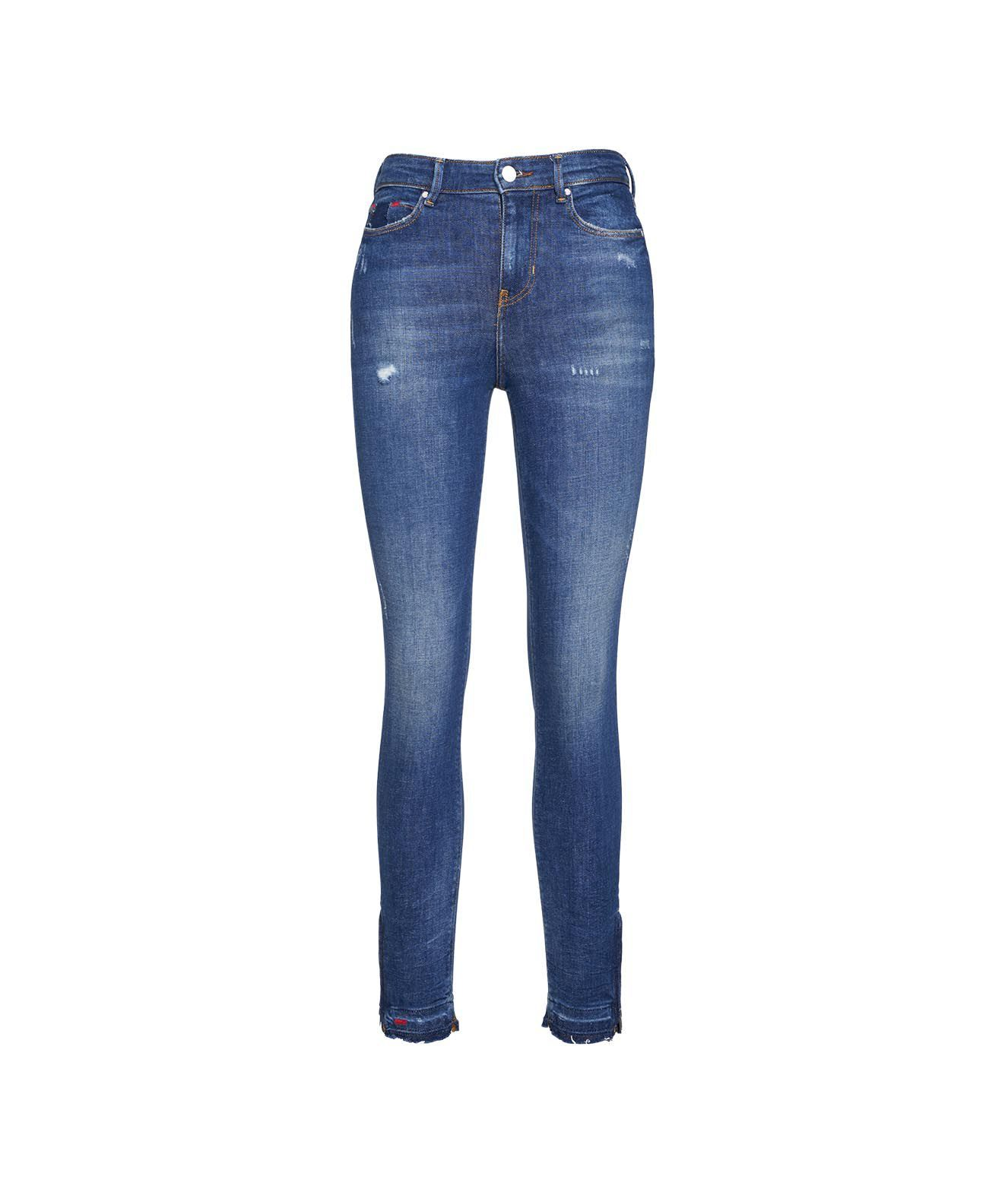 Guess Linings GUESS WOMEN'S W1RA93D46A411GLRS BLUE OTHER MATERIALS JEANS