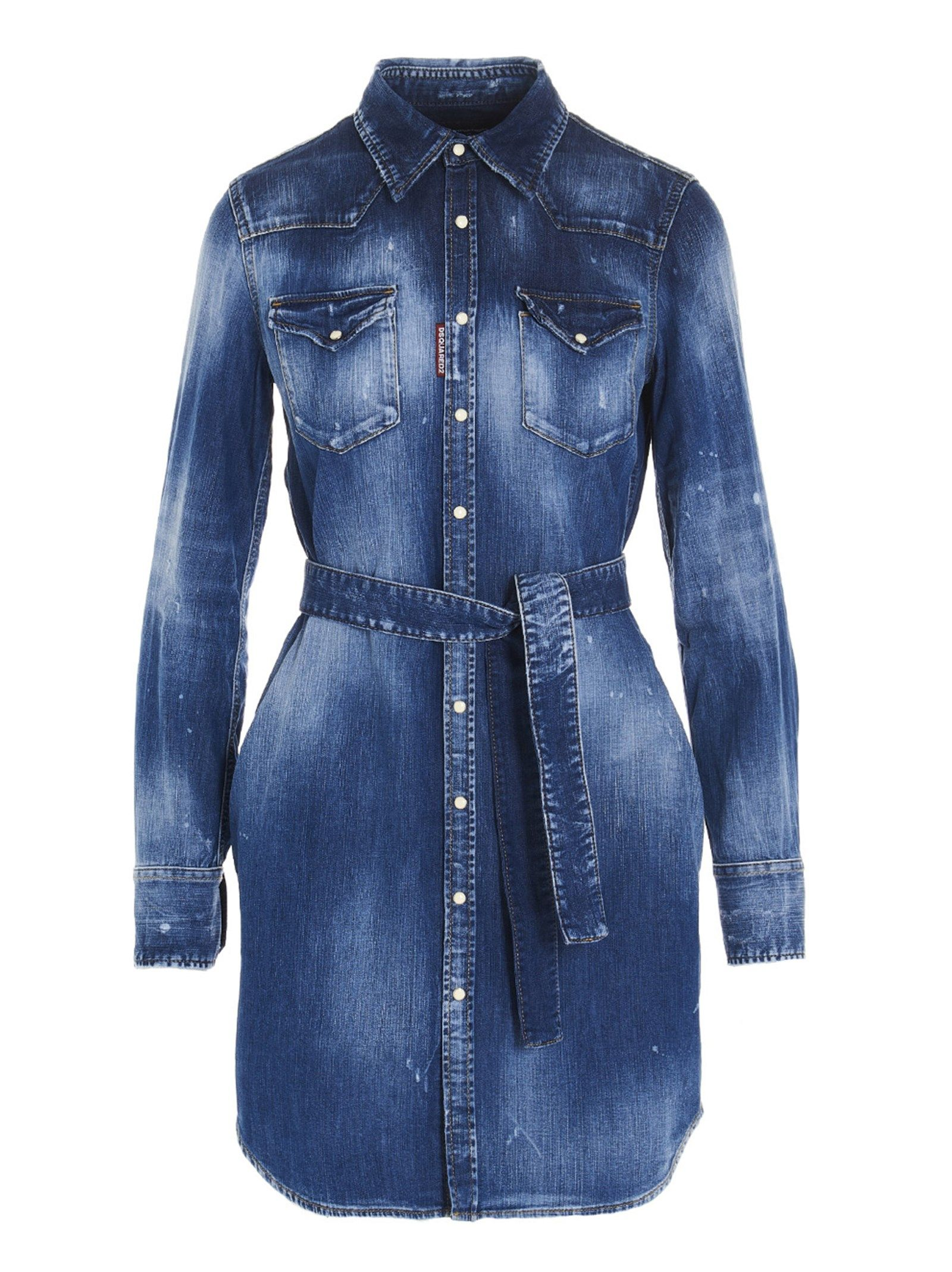 Dsquared2 Cottons DSQUARED2 WOMEN'S S72CV0216S30341470 BLUE OTHER MATERIALS SHIRT
