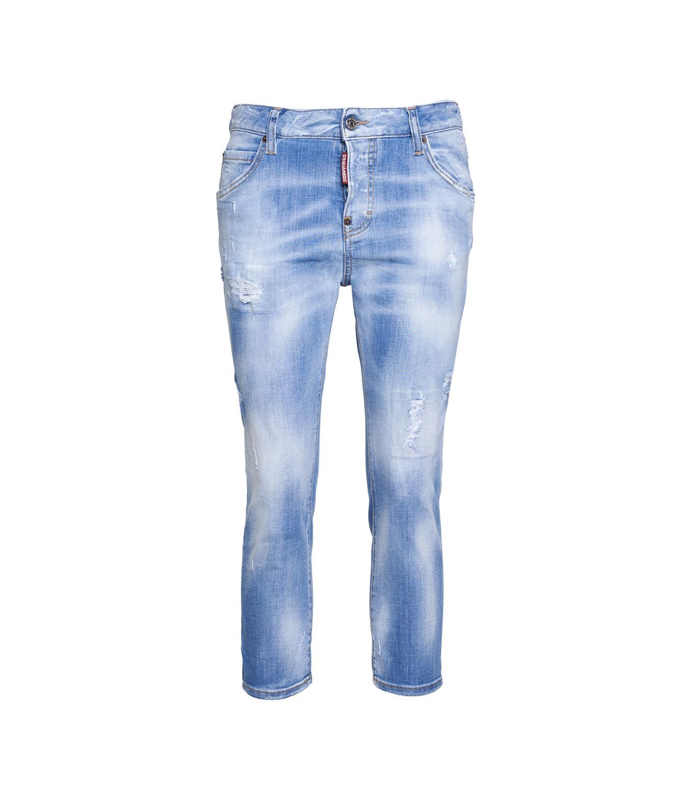 Dsquared2 Jeans DSQUARED2 WOMEN'S S75LB0508S3034211470 BLUE OTHER MATERIALS JEANS