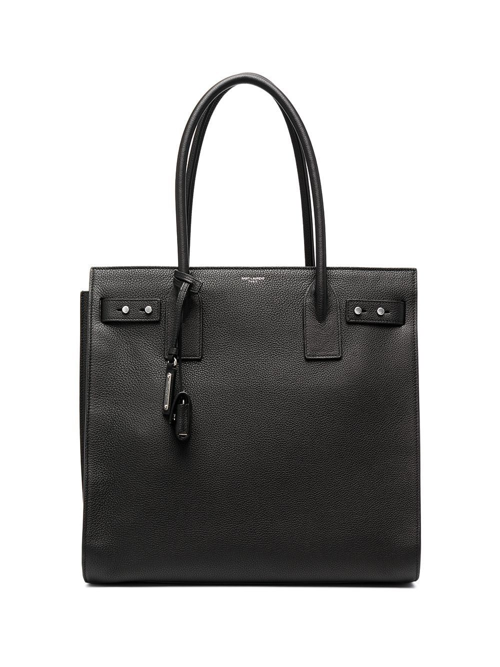Saint Laurent Paris SAINT LAURENT MEN'S 647168DTI0E1000 BLACK LEATHER BRIEFCASE