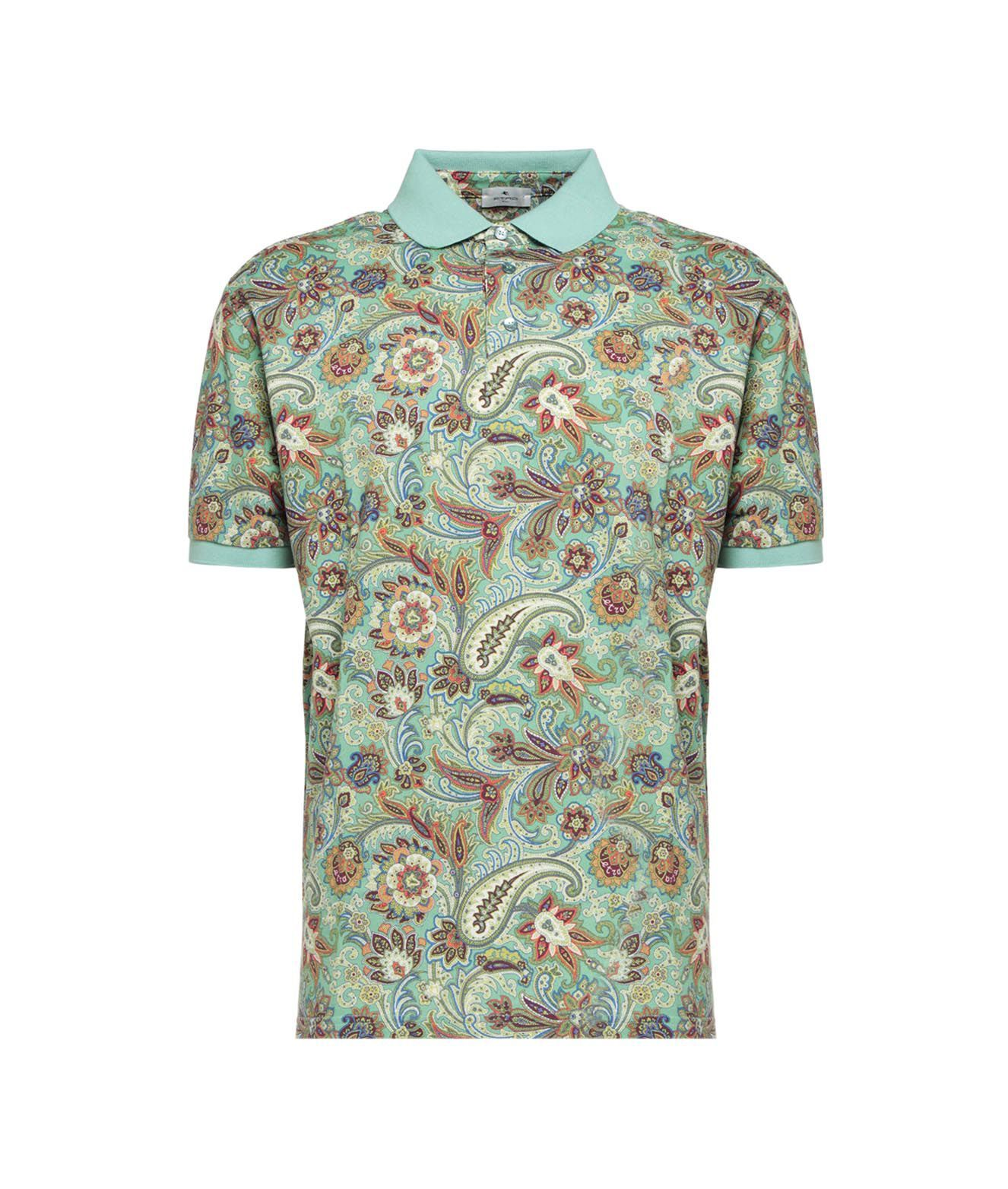 Etro Shirts ETRO MEN'S 1Y800408311550 LIGHT BLUE OTHER MATERIALS POLO SHIRT