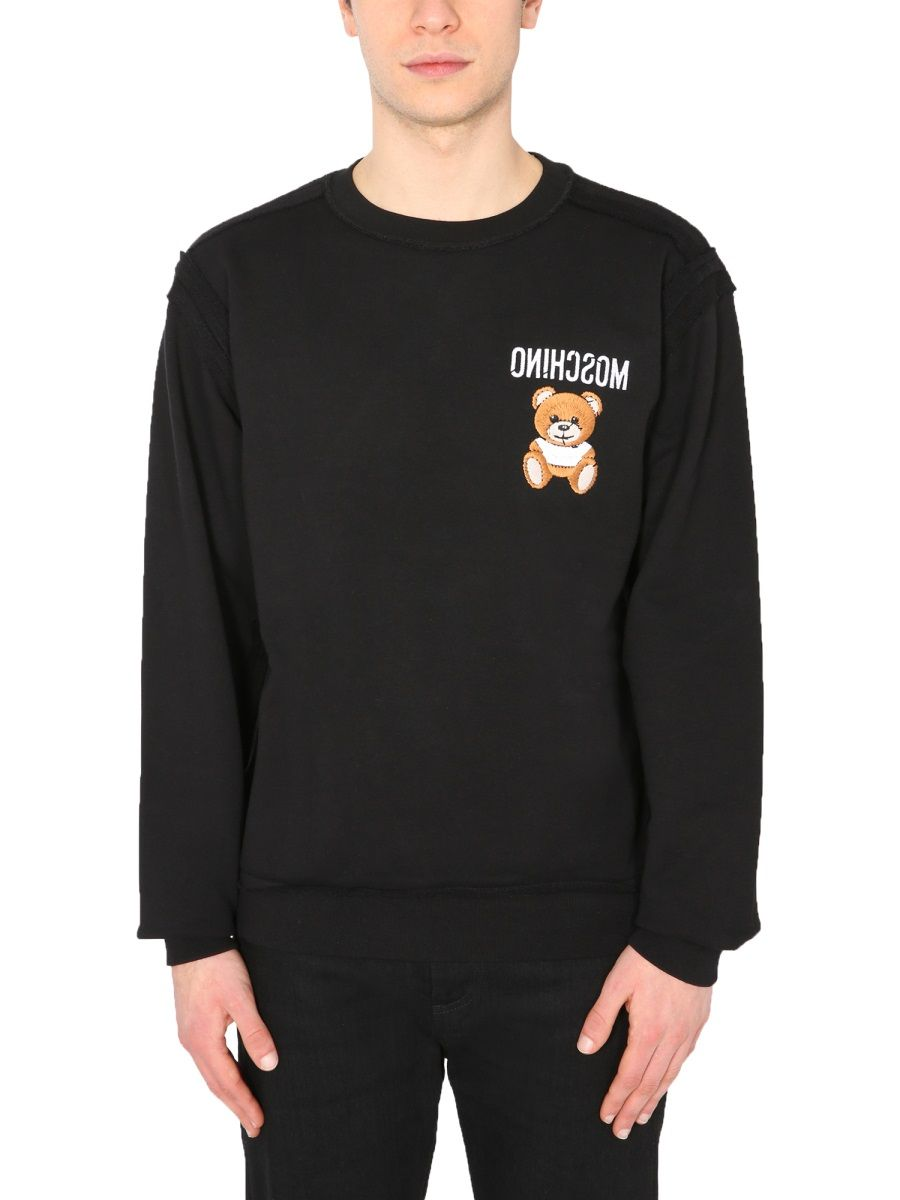 Moschino MOSCHINO MEN'S 177402271555 BLACK OTHER MATERIALS SWEATSHIRT