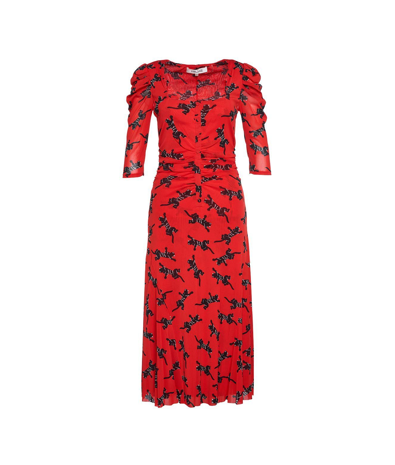 Diane Von Furstenberg DIANE VON FURSTENBERG WOMEN'S DVFDL4O03311CPSRD RED OTHER MATERIALS DRESS