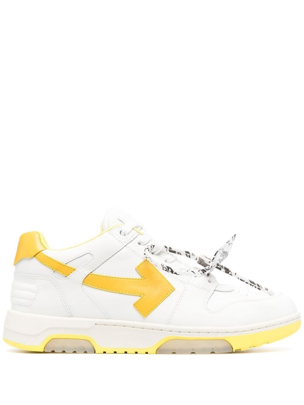 Off-White Leathers OFF-WHITE MEN'S OMIA189R21LEA0010118 WHITE LEATHER SNEAKERS