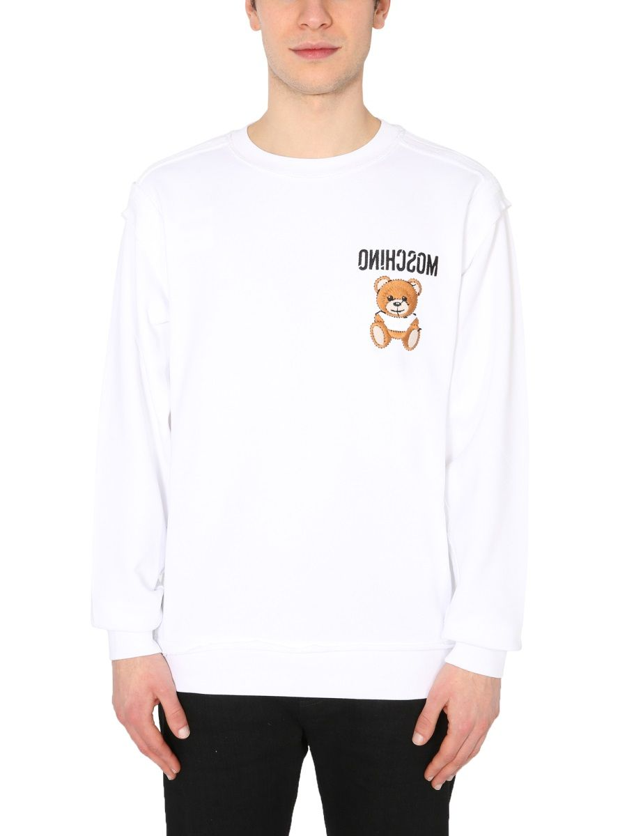 Moschino MOSCHINO MEN'S 177402271001 WHITE OTHER MATERIALS SWEATSHIRT
