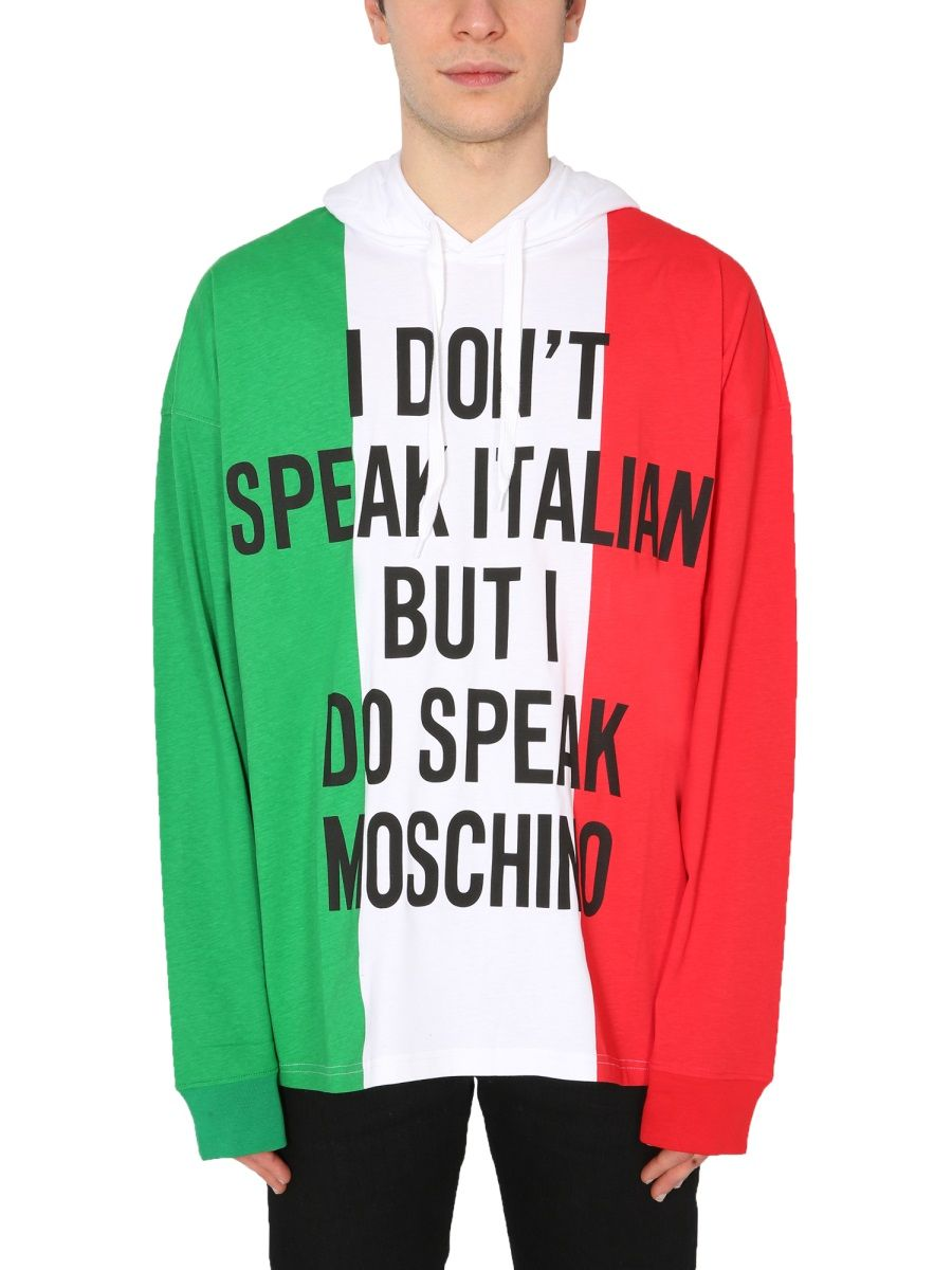 Moschino MOSCHINO MEN'S 121220401888 MULTICOLOR OTHER MATERIALS SWEATSHIRT