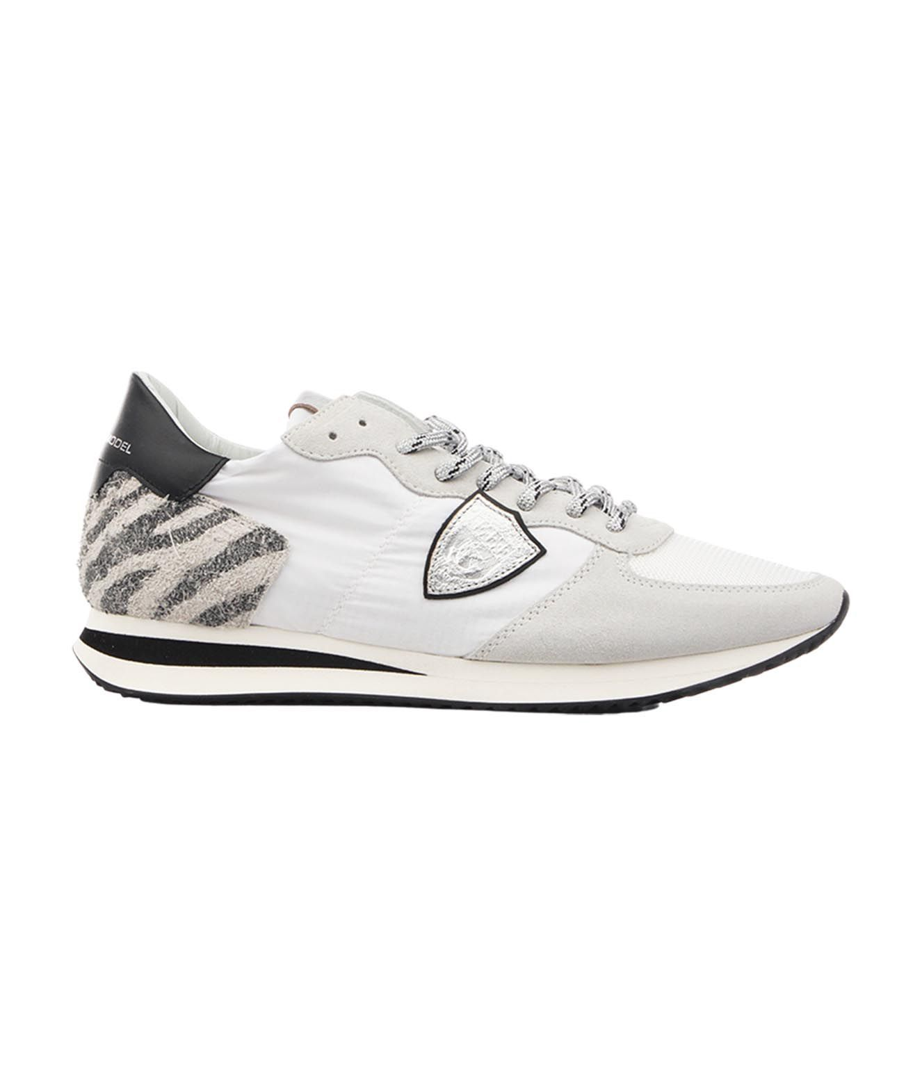 Philippe Model Leathers PHILIPPE MODEL WOMEN'S TZLDWA10 WHITE OTHER MATERIALS SNEAKERS