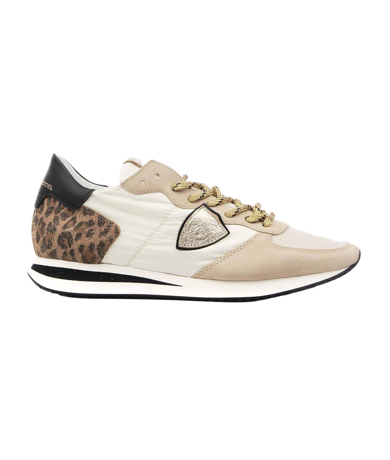Philippe Model PHILIPPE MODEL WOMEN'S TZLDWA11 BEIGE OTHER MATERIALS SNEAKERS