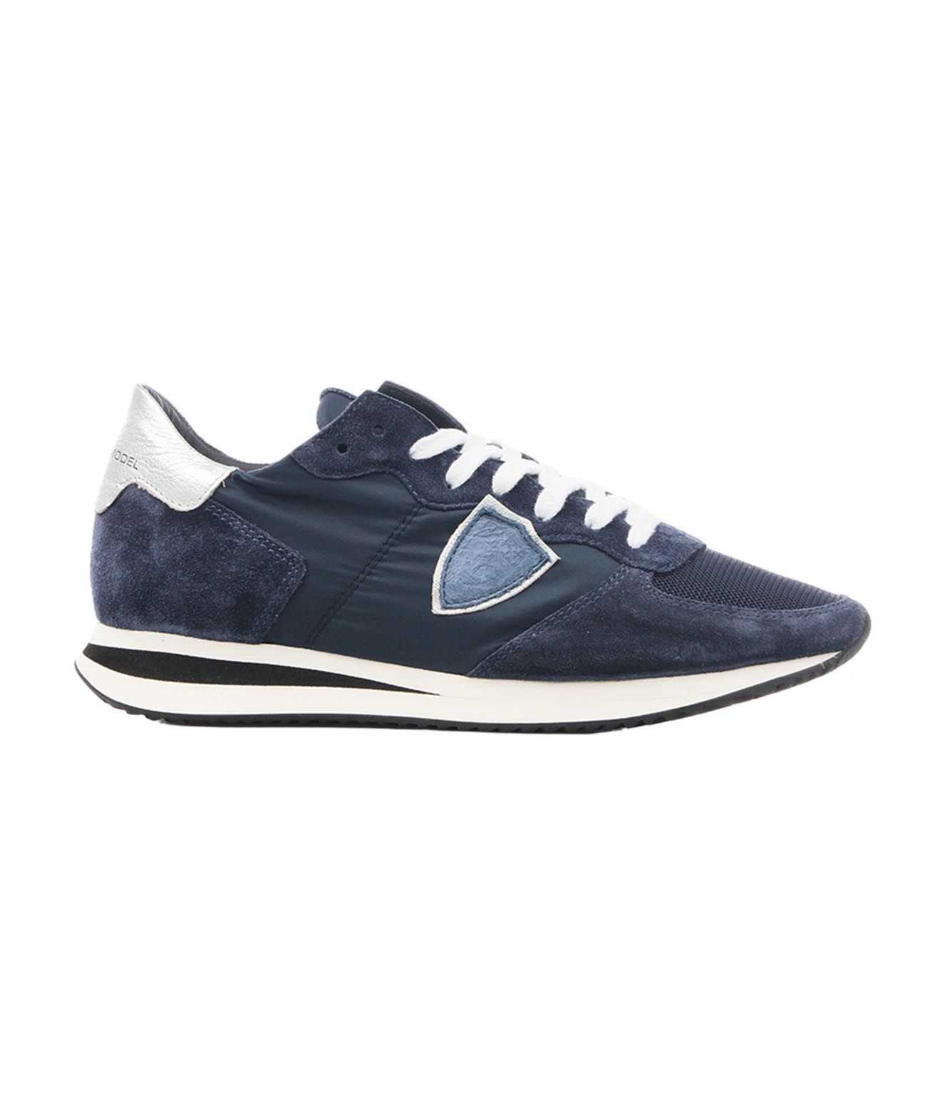 Philippe Model Sneakers PHILIPPE MODEL WOMEN'S TZLD2119 BLUE OTHER MATERIALS SNEAKERS