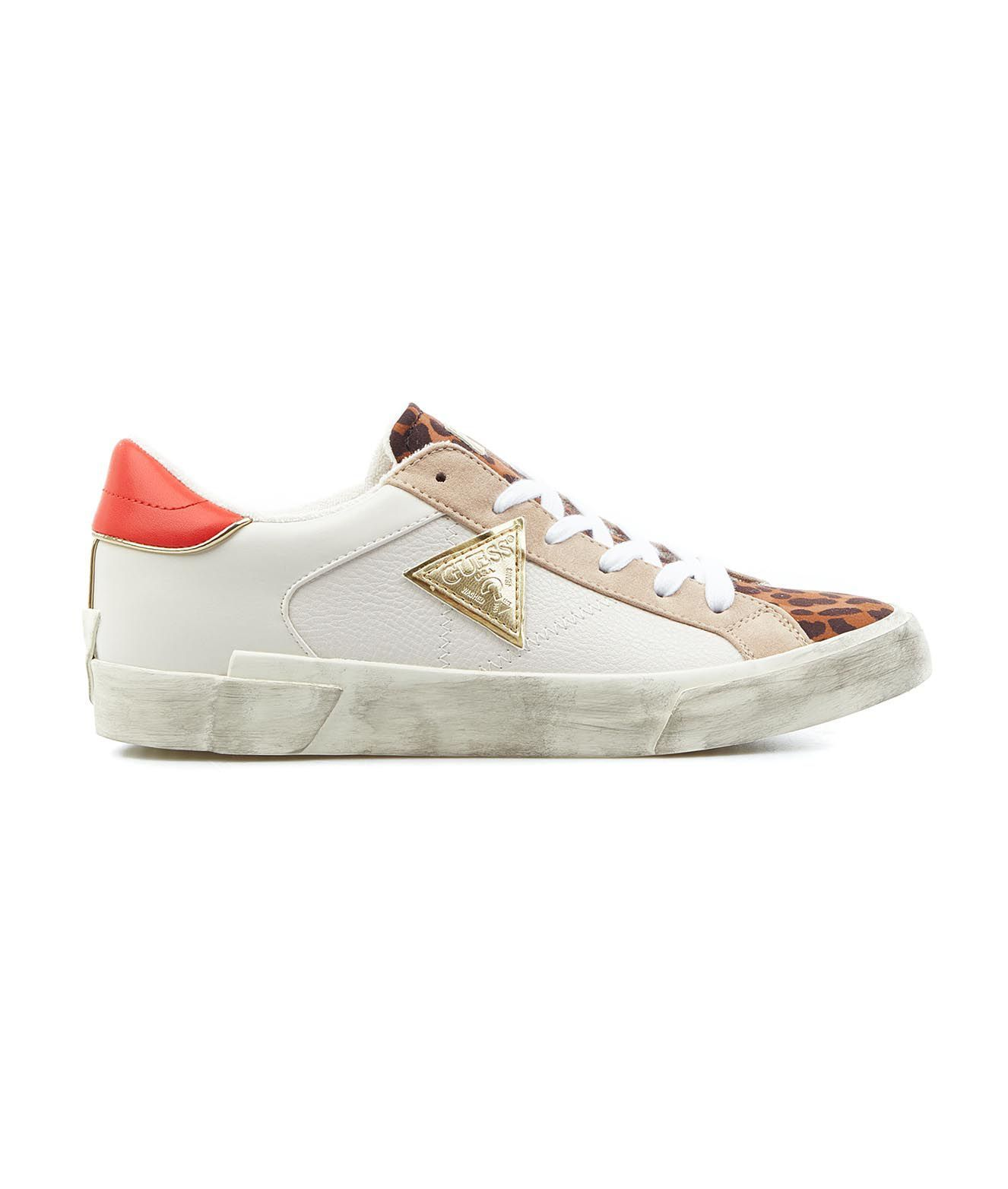 Guess Sneakers GUESS WOMEN'S FL5WESELE12 WHITE OTHER MATERIALS SNEAKERS