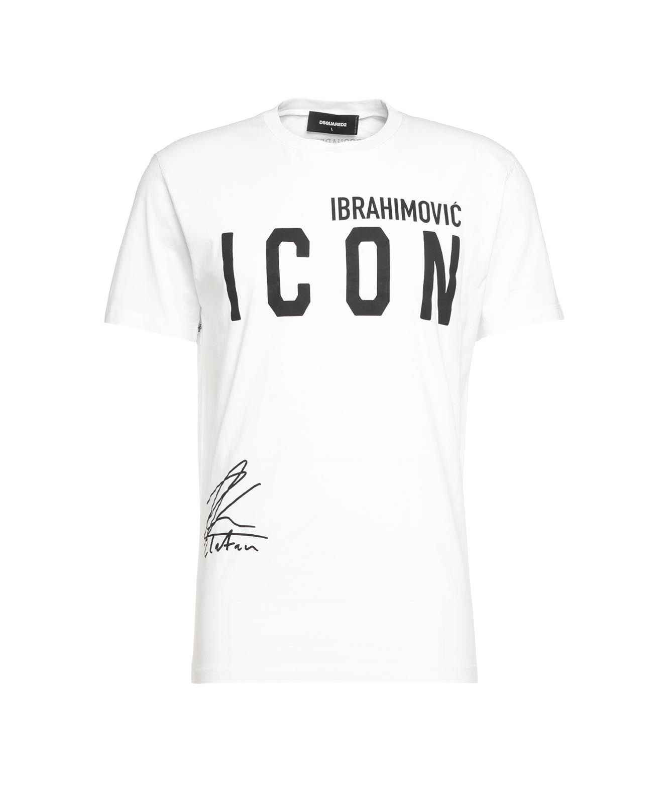 Dsquared2 T-shirts DSQUARED2 MEN'S S79GC0024S2300911100 WHITE OTHER MATERIALS T-SHIRT