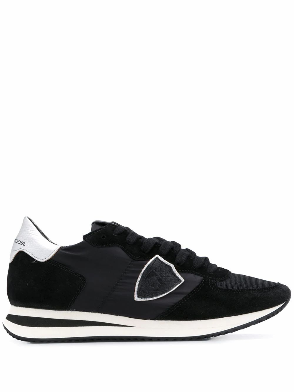 Philippe Model PHILIPPE MODEL WOMEN'S TZLD2113 BLACK LEATHER SNEAKERS