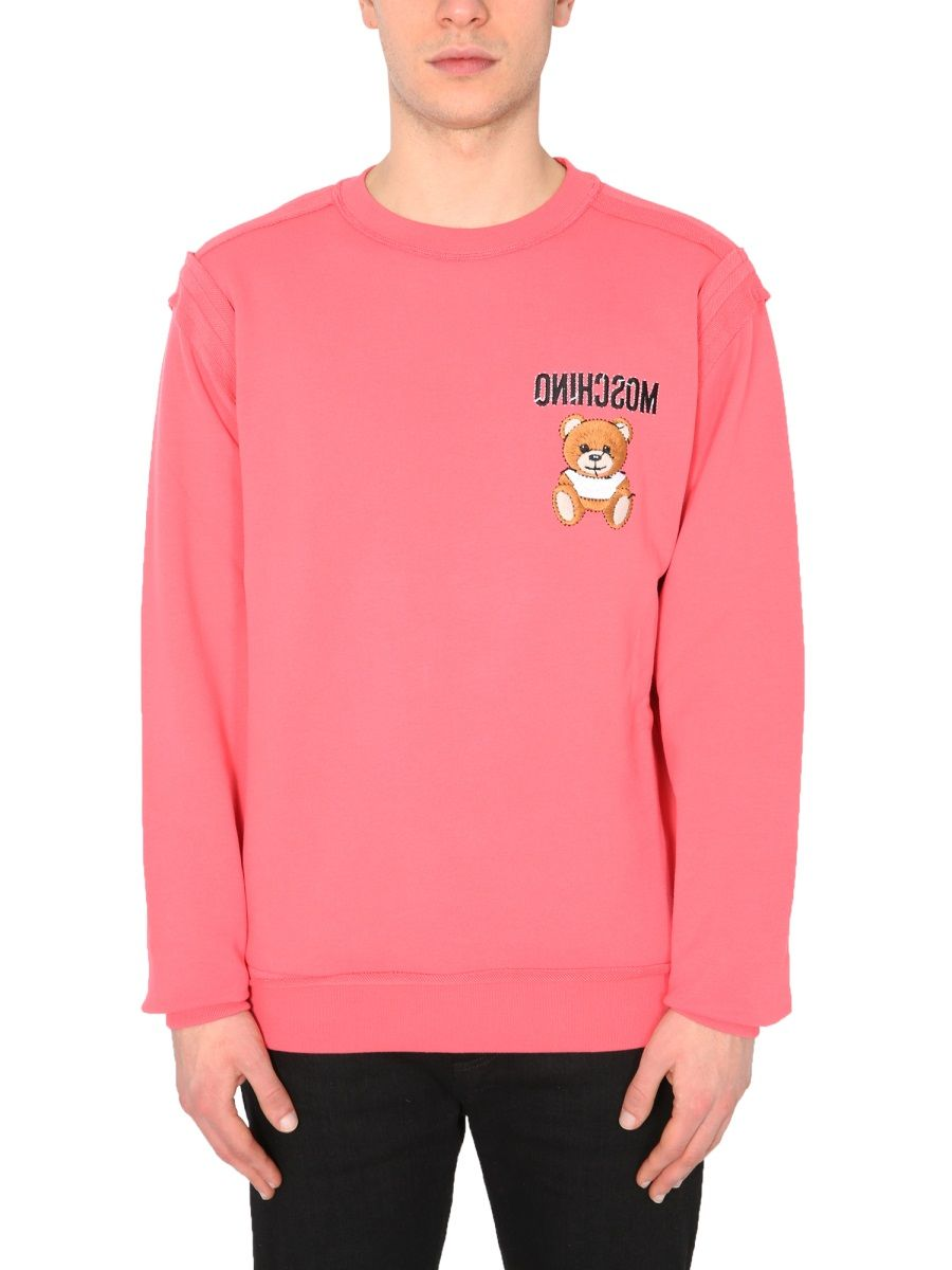 Moschino MOSCHINO MEN'S 177402271211 PINK OTHER MATERIALS SWEATSHIRT