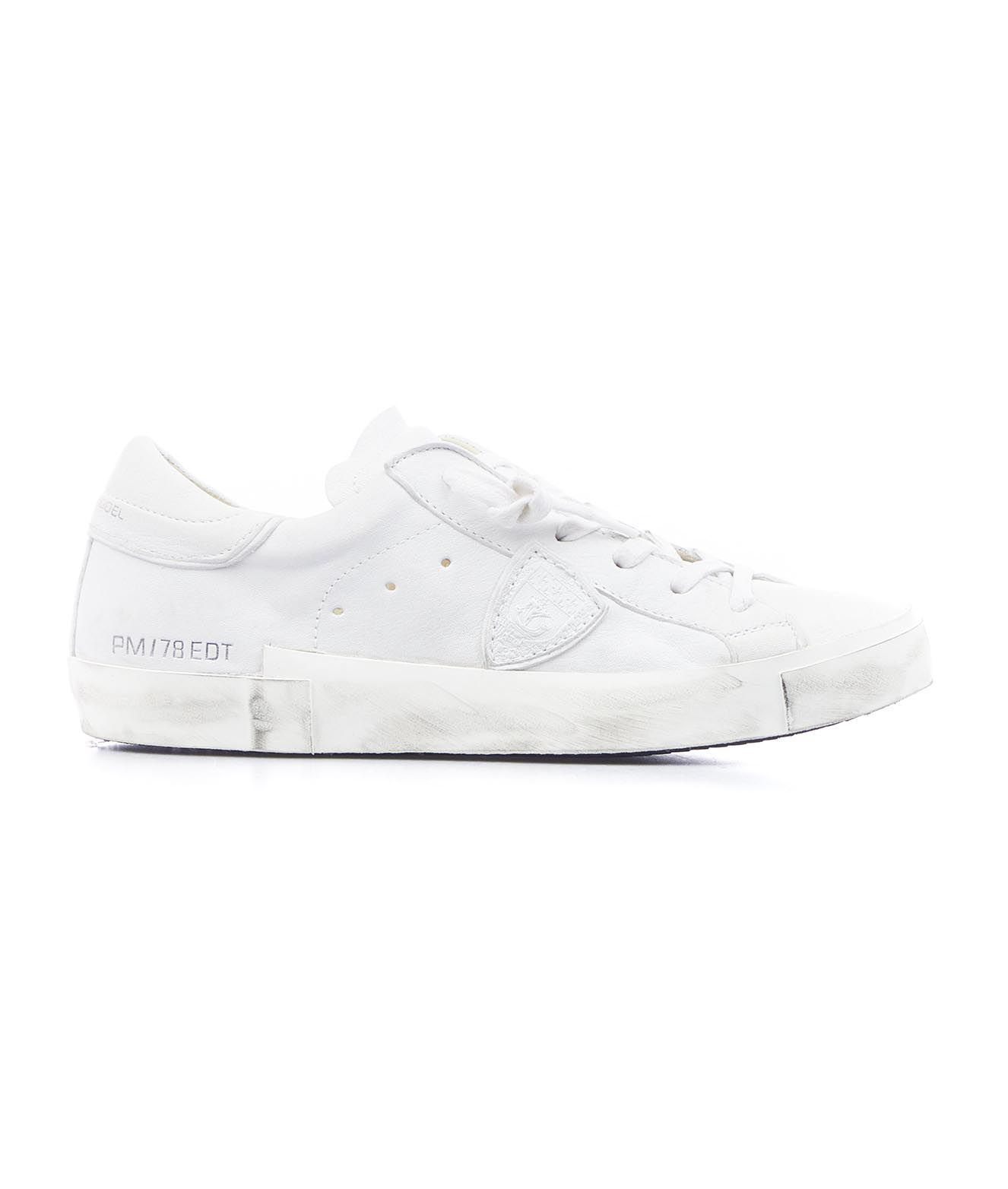 Philippe Model PHILIPPE MODEL WOMEN'S PRLD1012 WHITE OTHER MATERIALS SNEAKERS