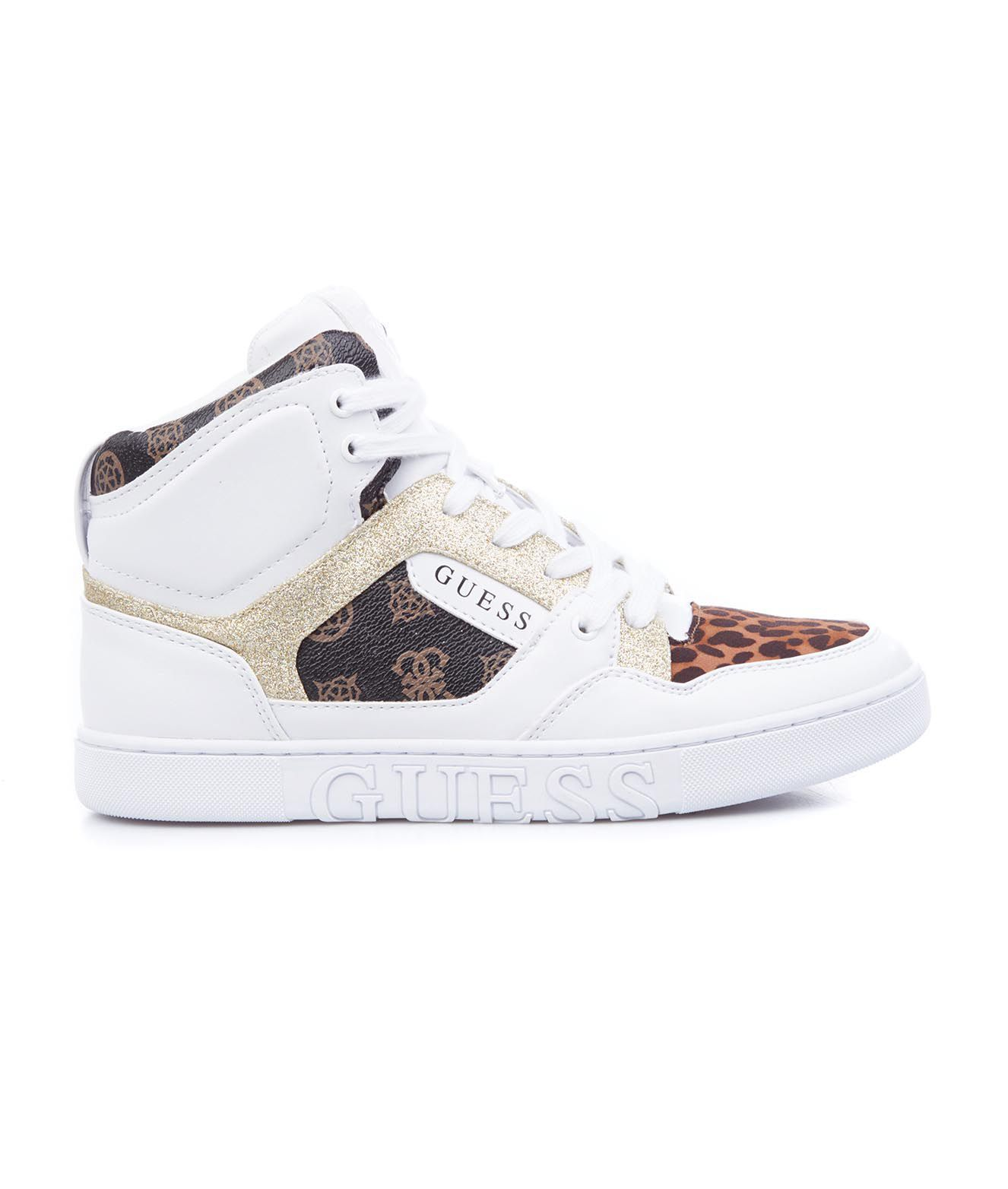 Guess High tops GUESS WOMEN'S FL5JS2FAL12WHIBR WHITE OTHER MATERIALS HI TOP SNEAKERS