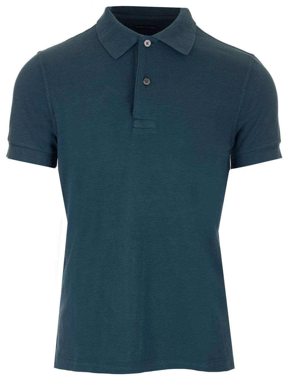 Tom Ford Cottons TOM FORD MEN'S BW266TFJ982T07 LIGHT BLUE OTHER MATERIALS POLO SHIRT