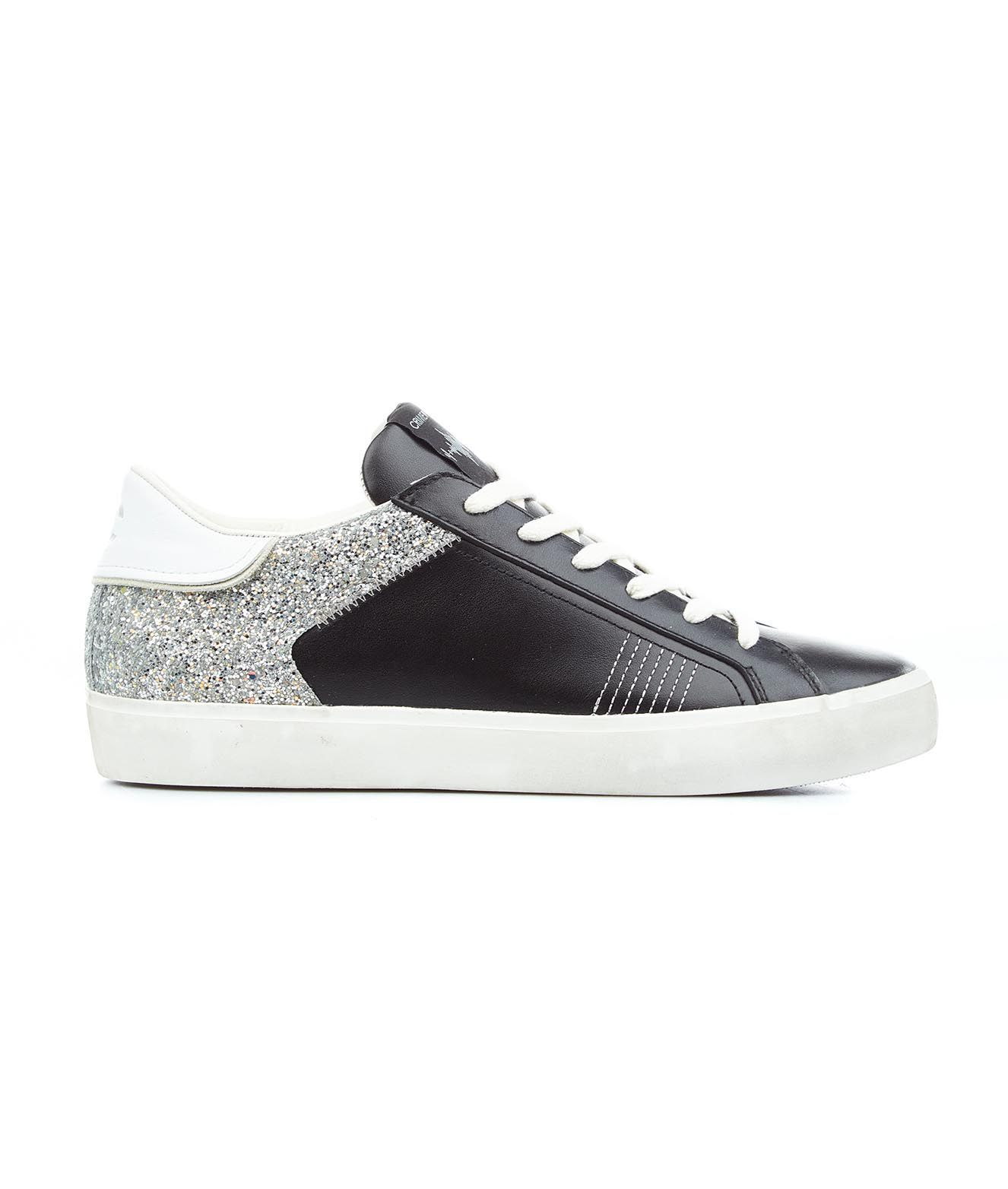 Crime London Low tops CRIME LONDON WOMEN'S 25501PP3B11 BLACK OTHER MATERIALS SNEAKERS