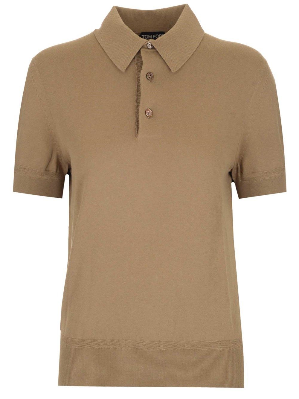 Tom Ford TOM FORD MEN'S BWC00TFKC33S05 BEIGE OTHER MATERIALS POLO SHIRT