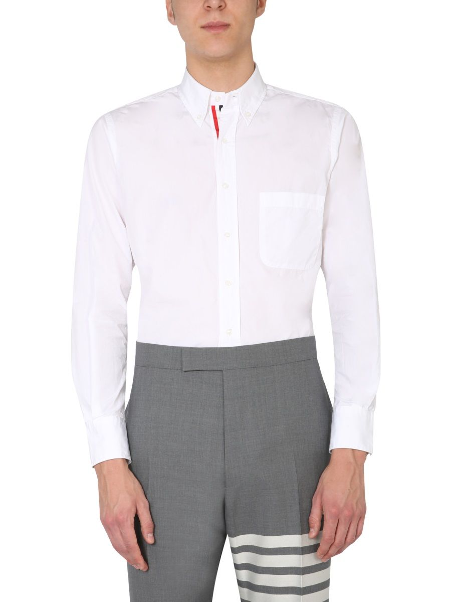 Thom Browne Downs THOM BROWNE MEN'S MWL010E03113100 WHITE OTHER MATERIALS SHIRT