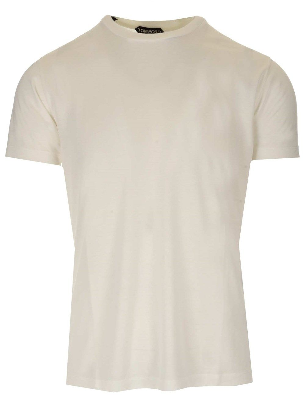 Tom Ford T-shirts TOM FORD MEN'S BW278TFJ209N01 WHITE OTHER MATERIALS T-SHIRT