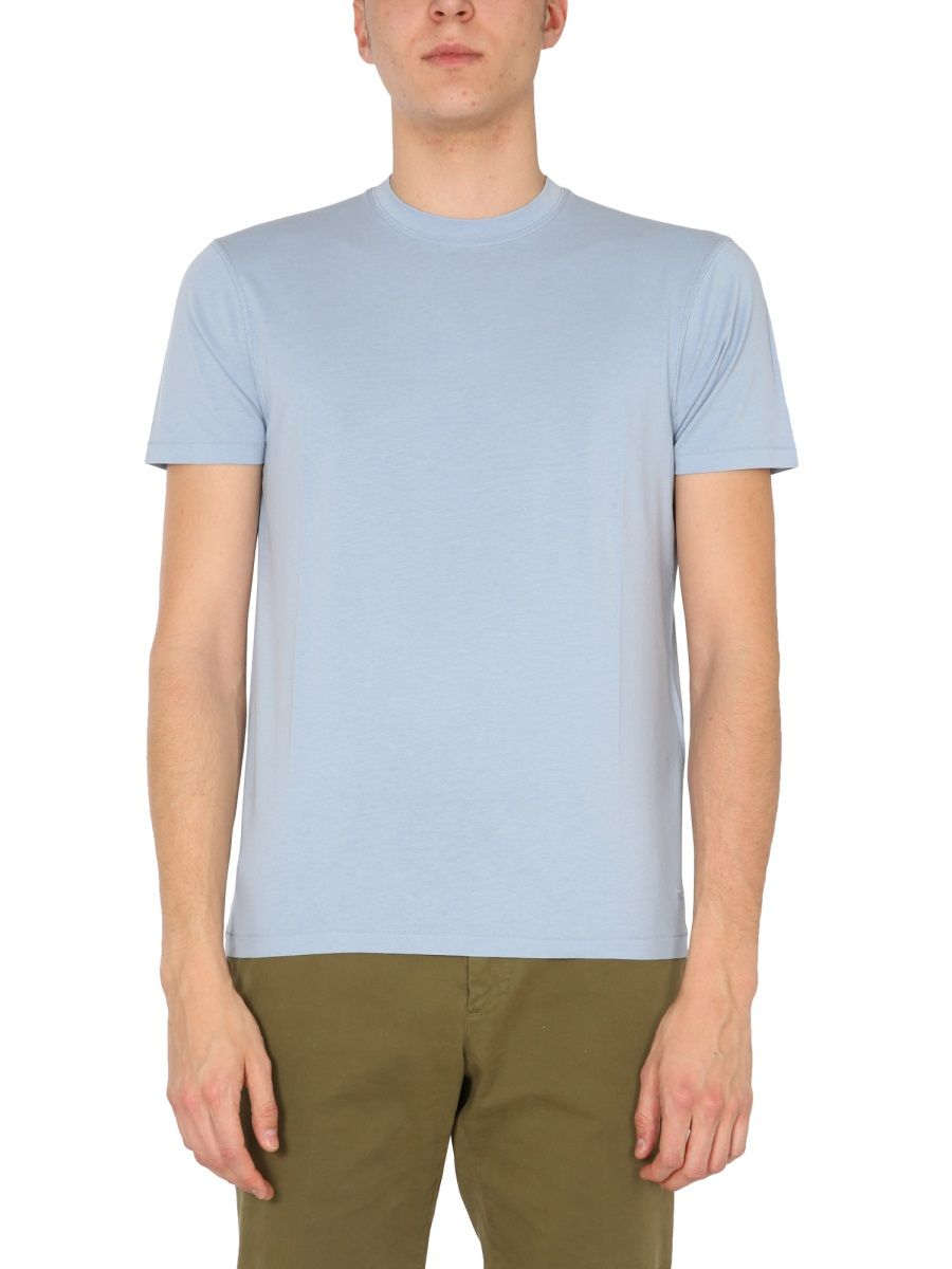 Tom Ford TOM FORD MEN'S BW229TFJ950T03 LIGHT BLUE OTHER MATERIALS T-SHIRT